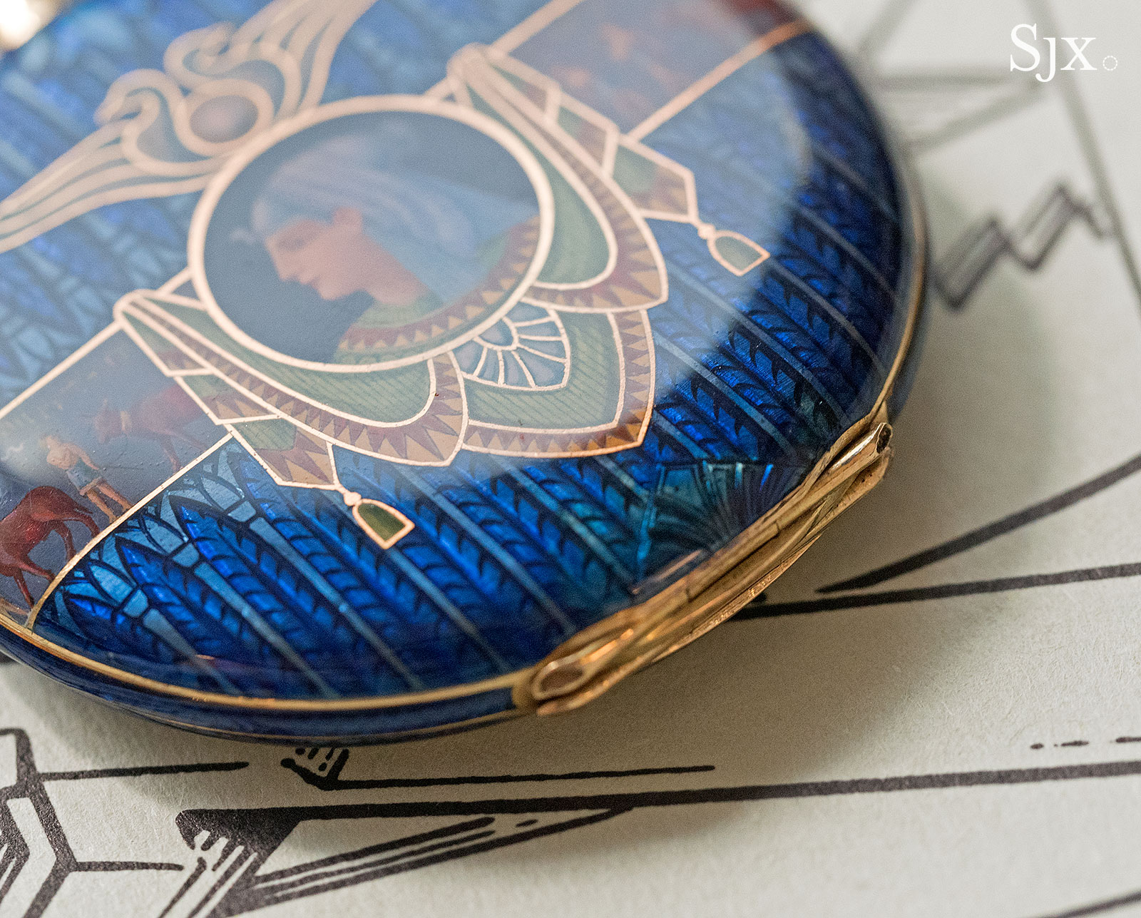 Phillips HKWA3 Patek Philippe enamel Egypt pocket watch 5