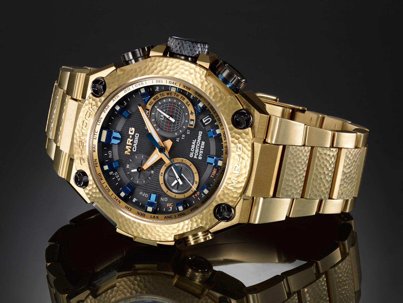 Casio G-Shock MR-G Gold Hammer Tone 1