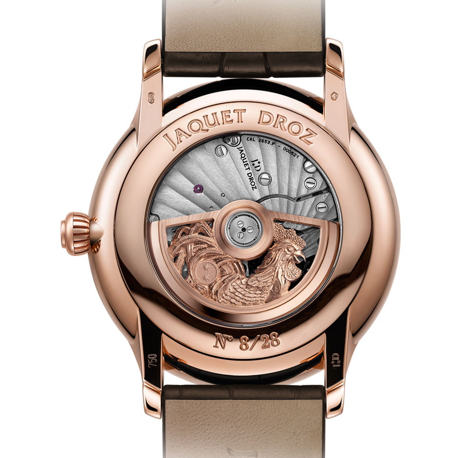Jaquet Droz Petite Heure Minute Rooster 1