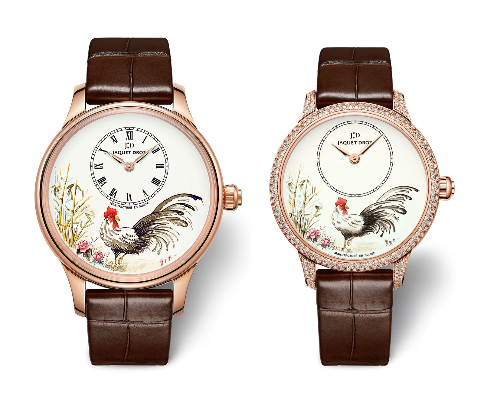 Jaquet Droz Petite Heure Minute Rooster 2