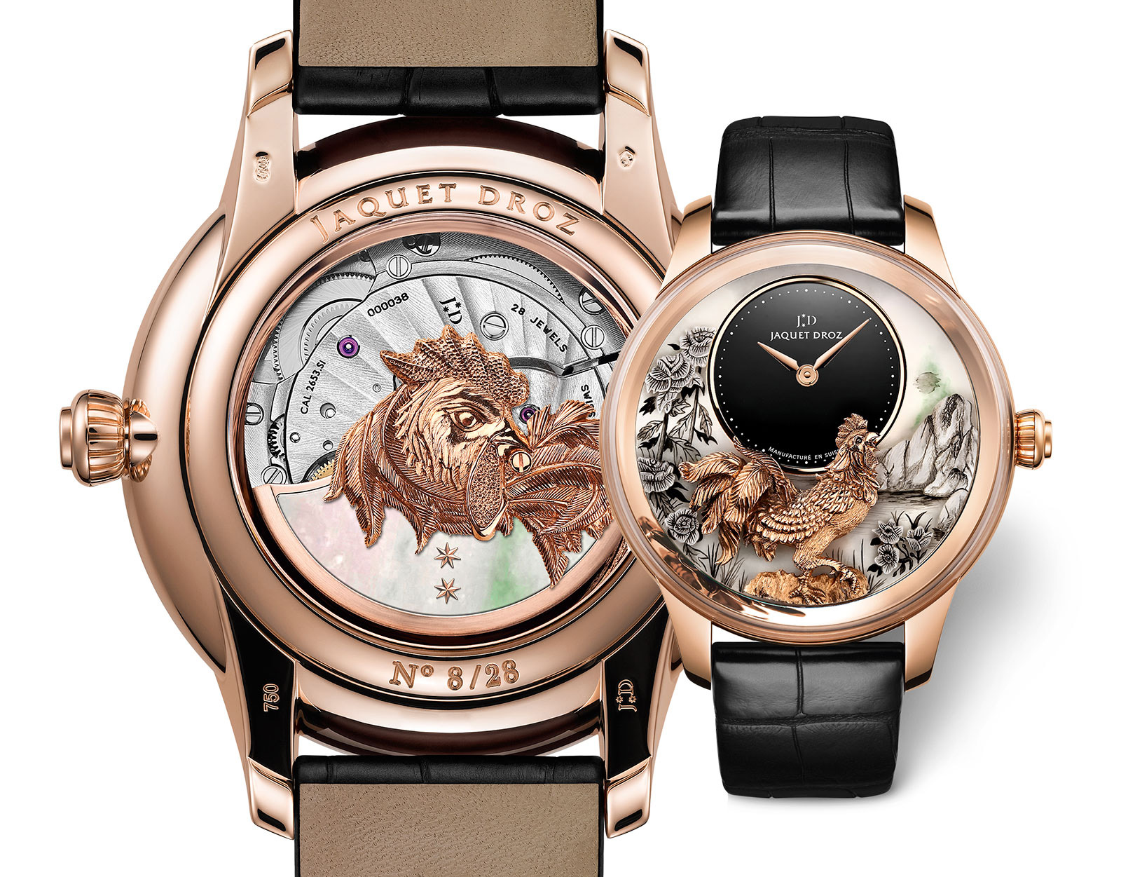Jaquet Droz Petite Heure Minute Rooster 5