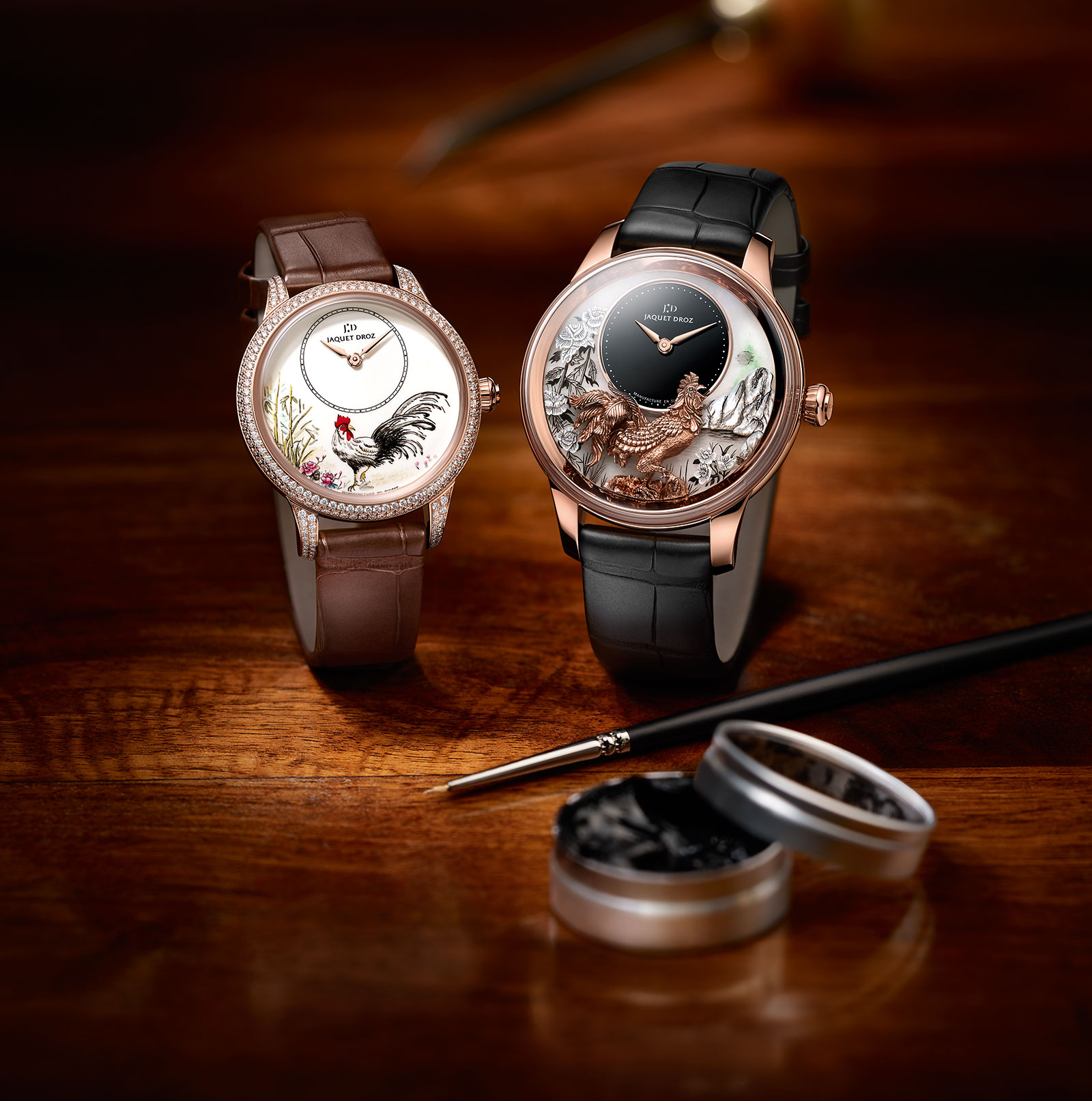Jaquet Droz Petite Heure Minute Rooster 6