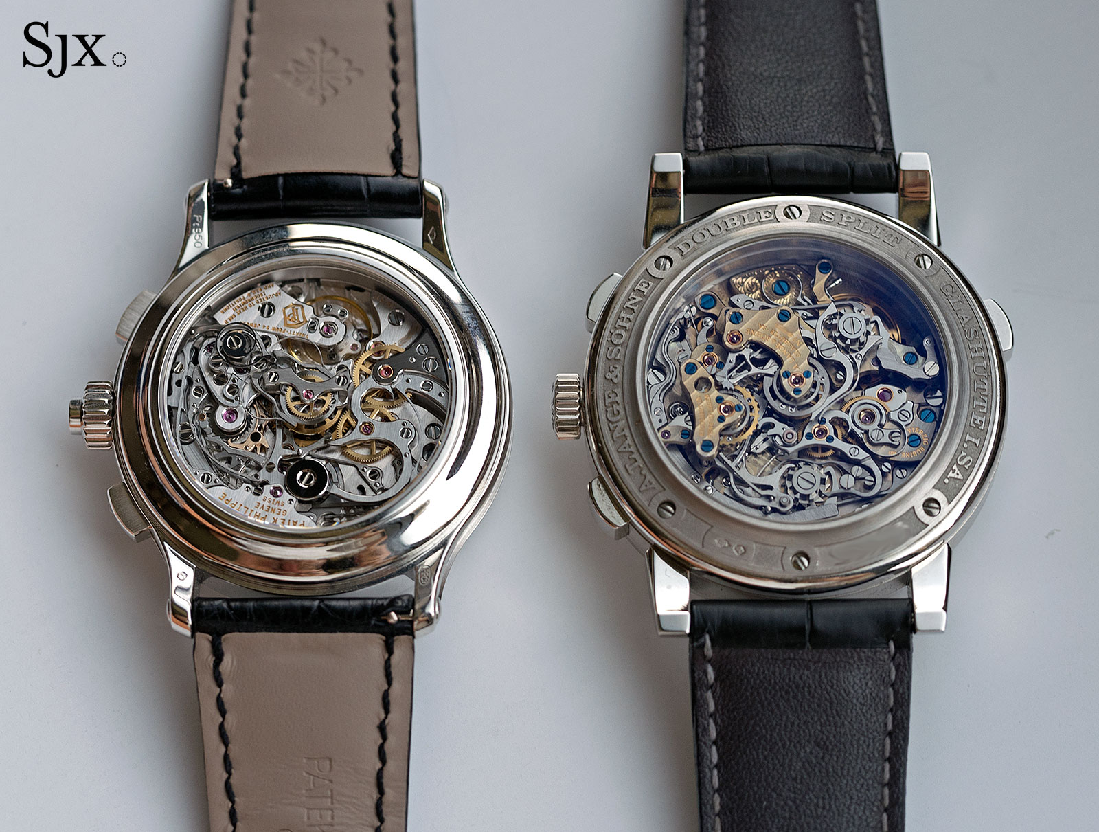 Lange Double Split Patek 5370 comparison 18