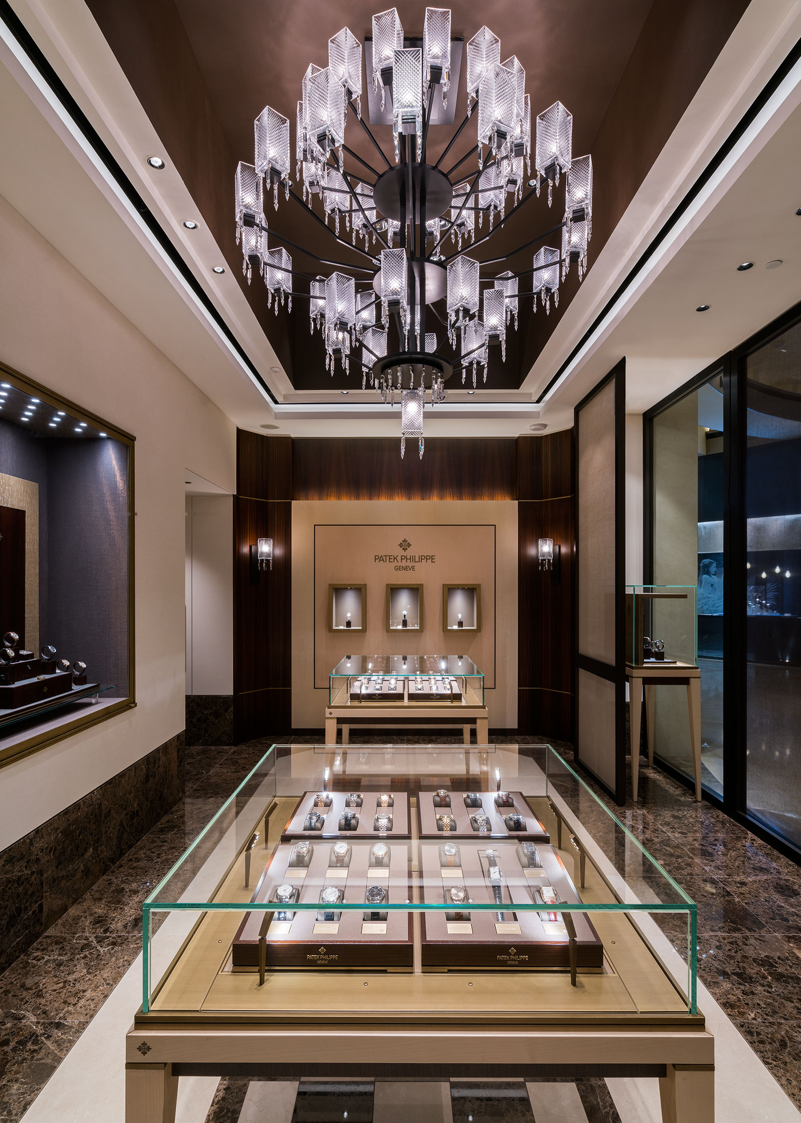 The newly reopened Patek Philippe boutique at Marina Bay Sands in Singapore