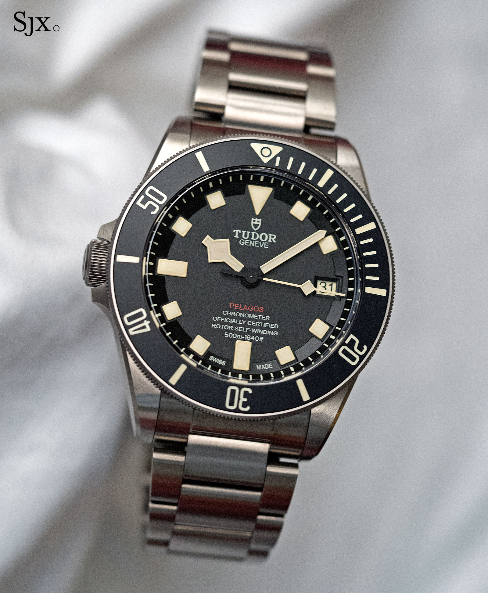 up close with the tudor pelagos lhd sjx watches. Black Bedroom Furniture Sets. Home Design Ideas