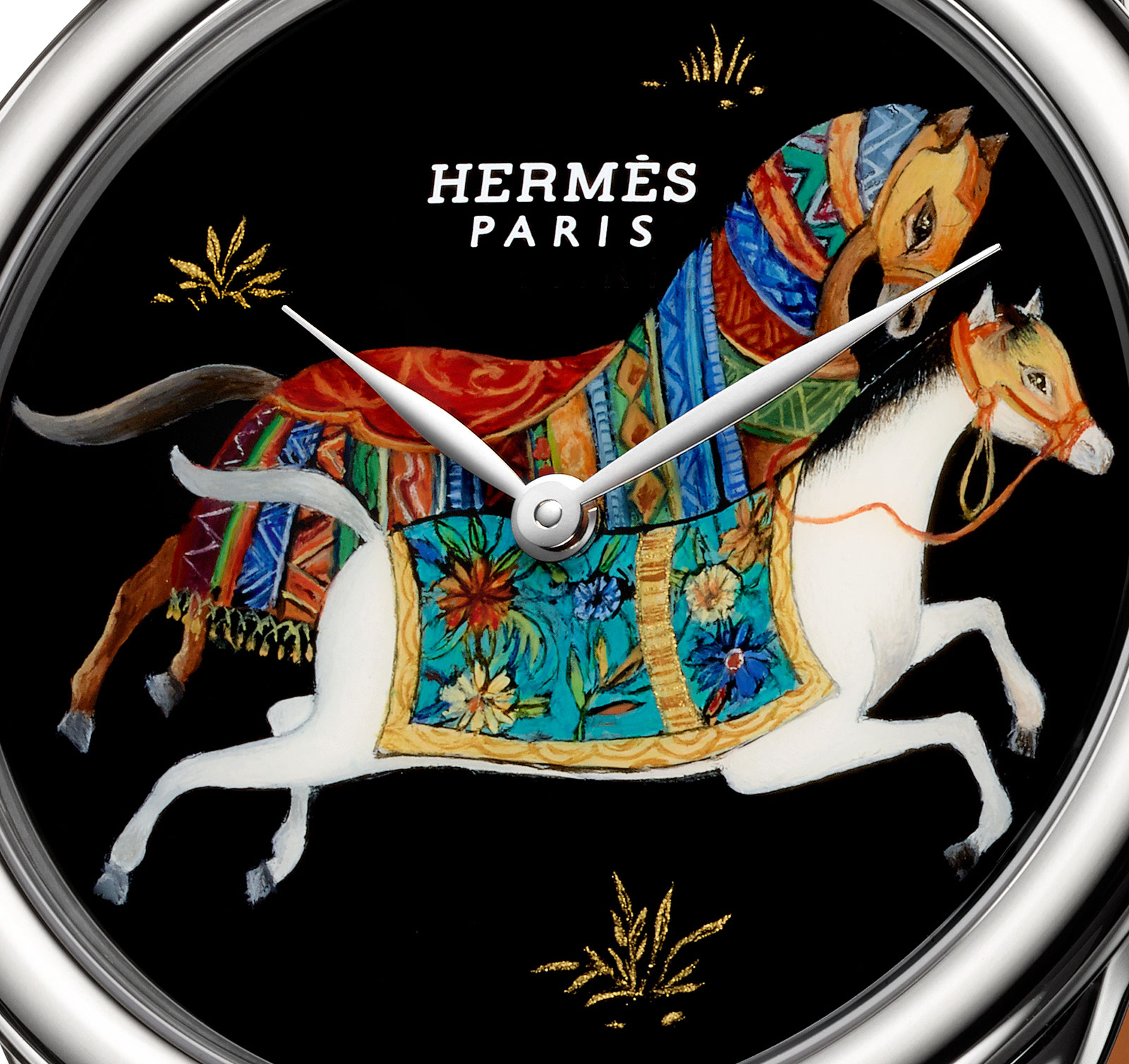 herm s introduces french lacquer dials with the arceau cheval d orient with pricing sjx watches. Black Bedroom Furniture Sets. Home Design Ideas