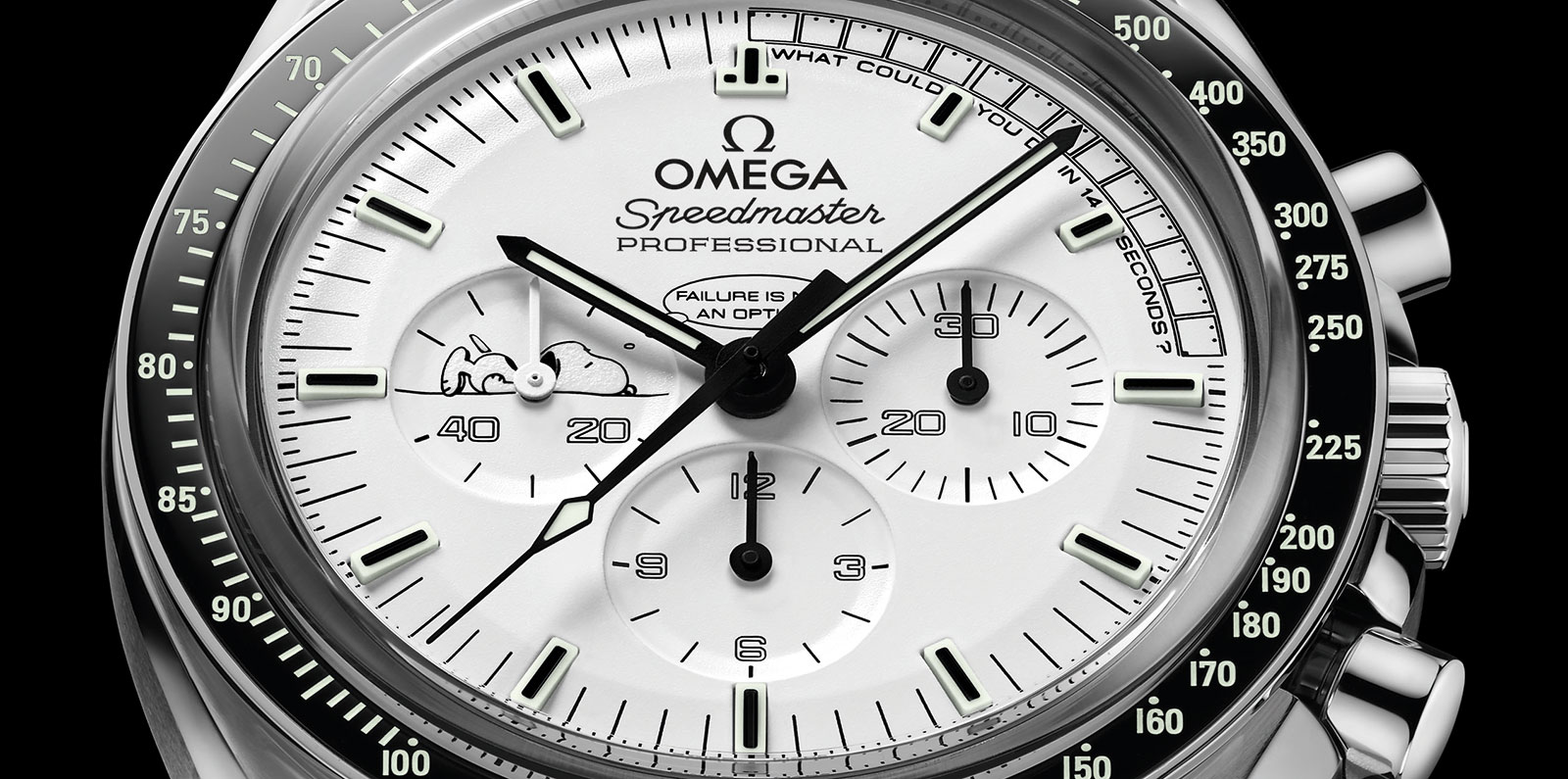 Introducing the omega speedmaster apollo 13 silver snoopy award with specs and price sjx watches for Snoopy watches