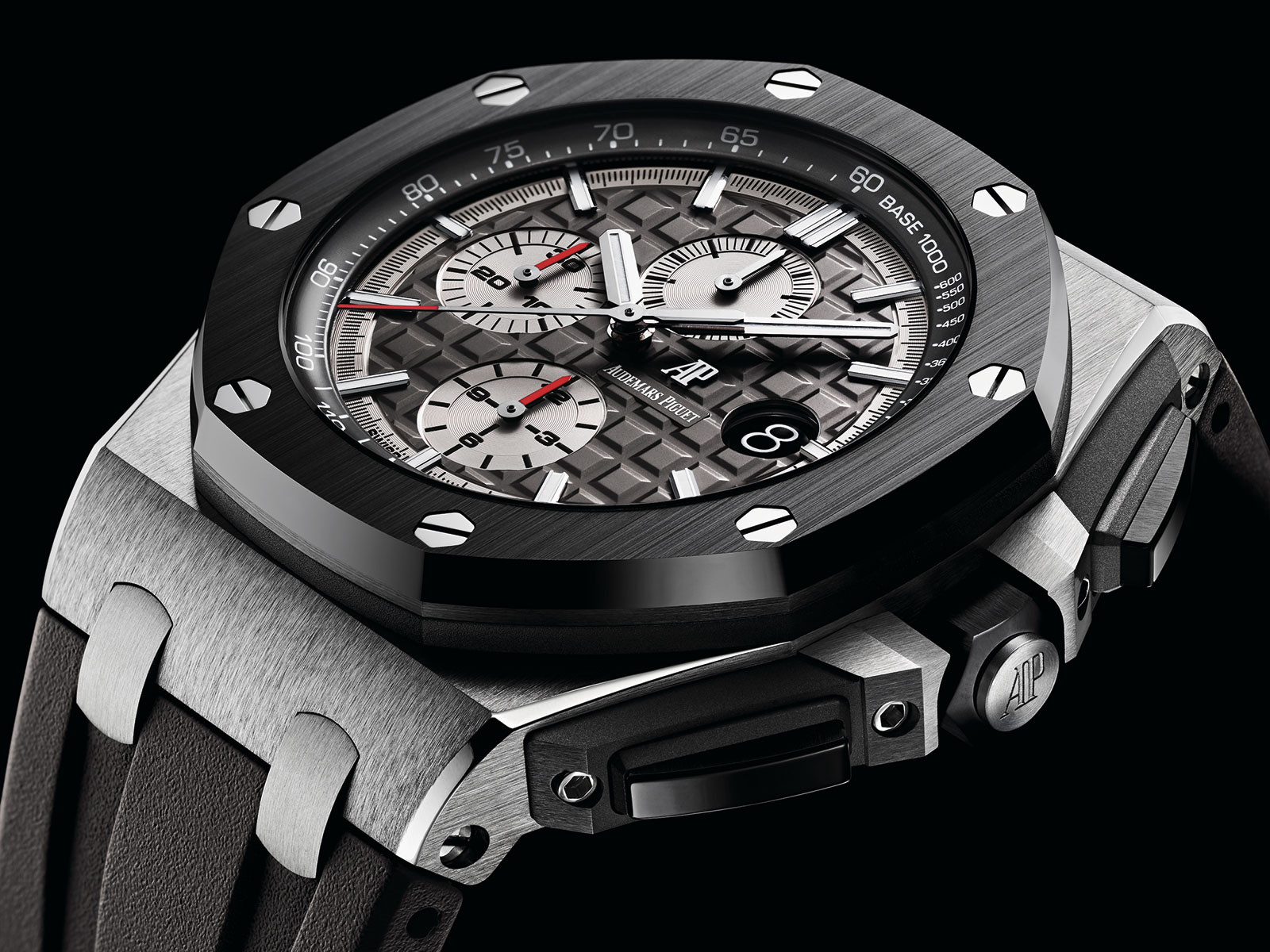 Audemars piguet introduces facelifted royal oak offshore chronograph 44mm including first ever for Royal oak offshore ceramic