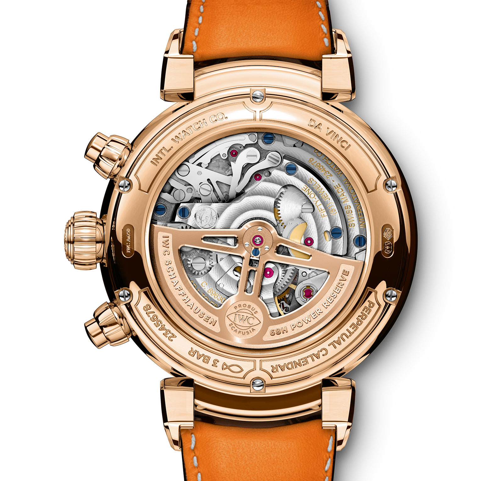 IWC Da Vinci Perpetual Calendar Chronograph back