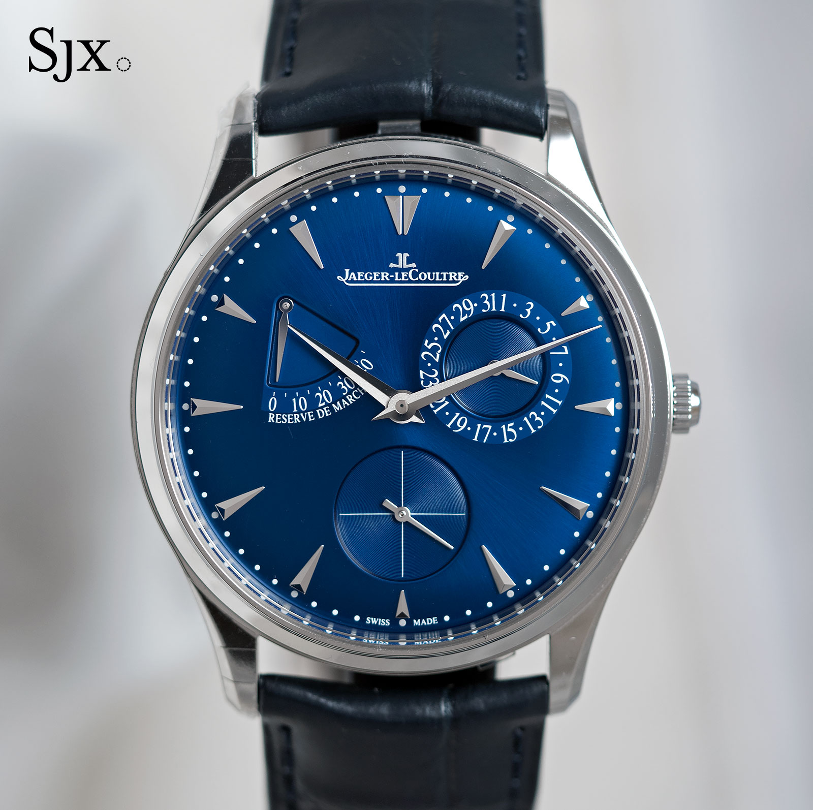 Jaeger-LeCoultre Master Ultra Thin Reserve de marche blue dial 1