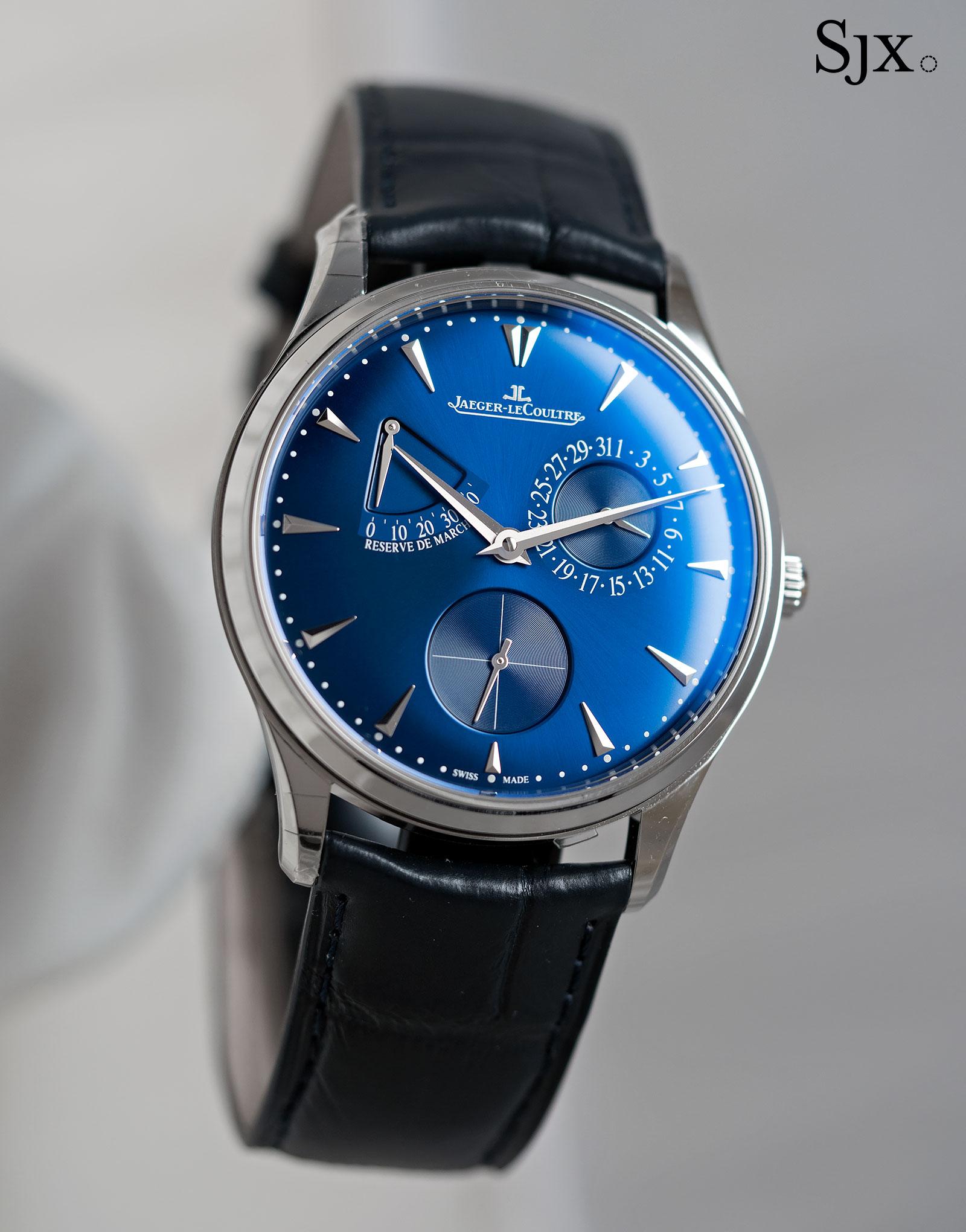 Jaeger-LeCoultre Master Ultra Thin Reserve de marche blue dial 2