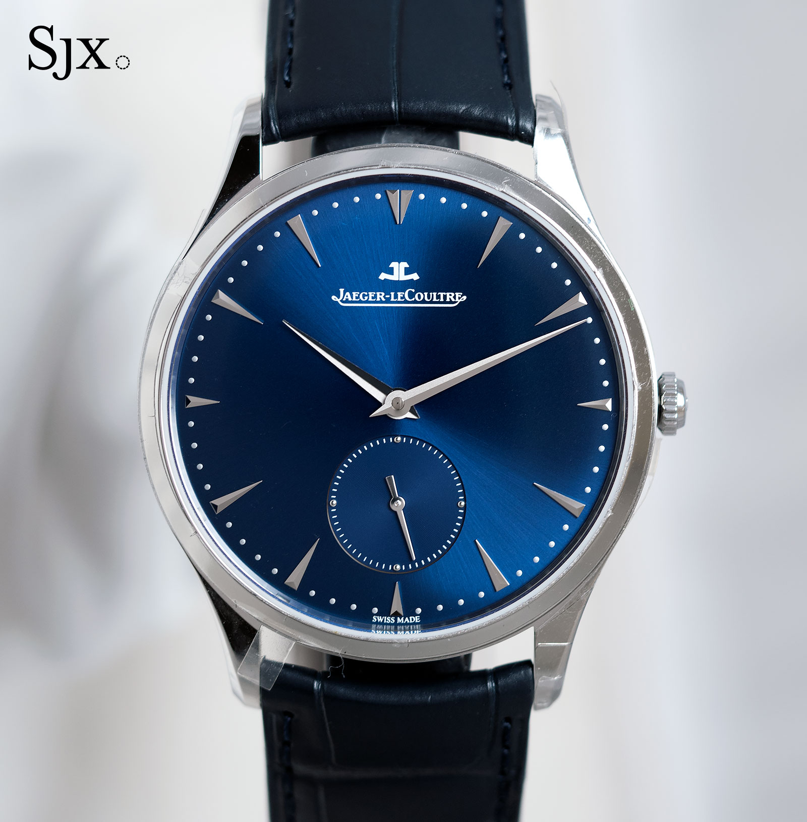 Jaeger-LeCoultre Master Ultra Thin Small second steel blue 1