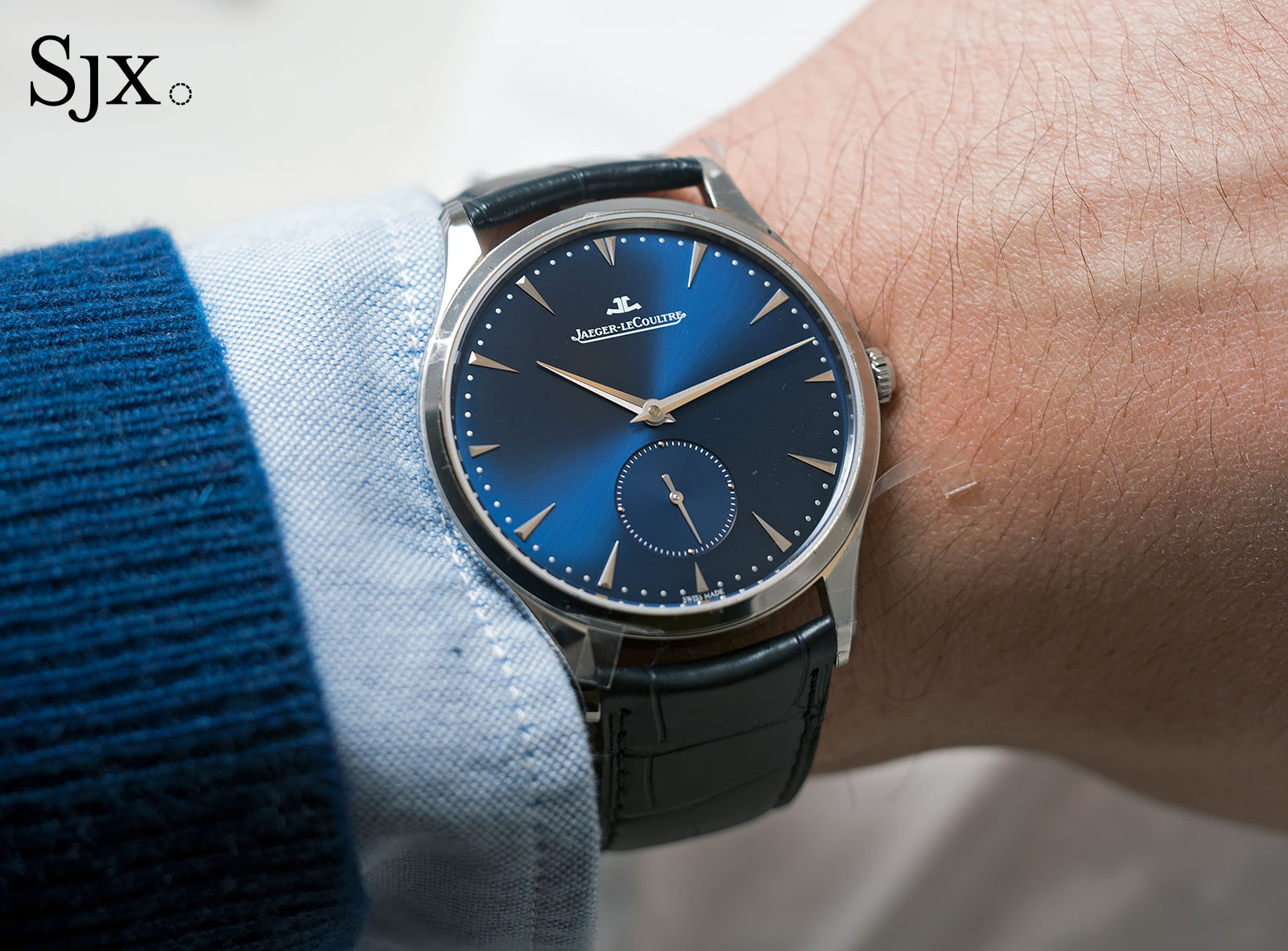 Jaeger-LeCoultre Master Ultra Thin Small second steel blue 2