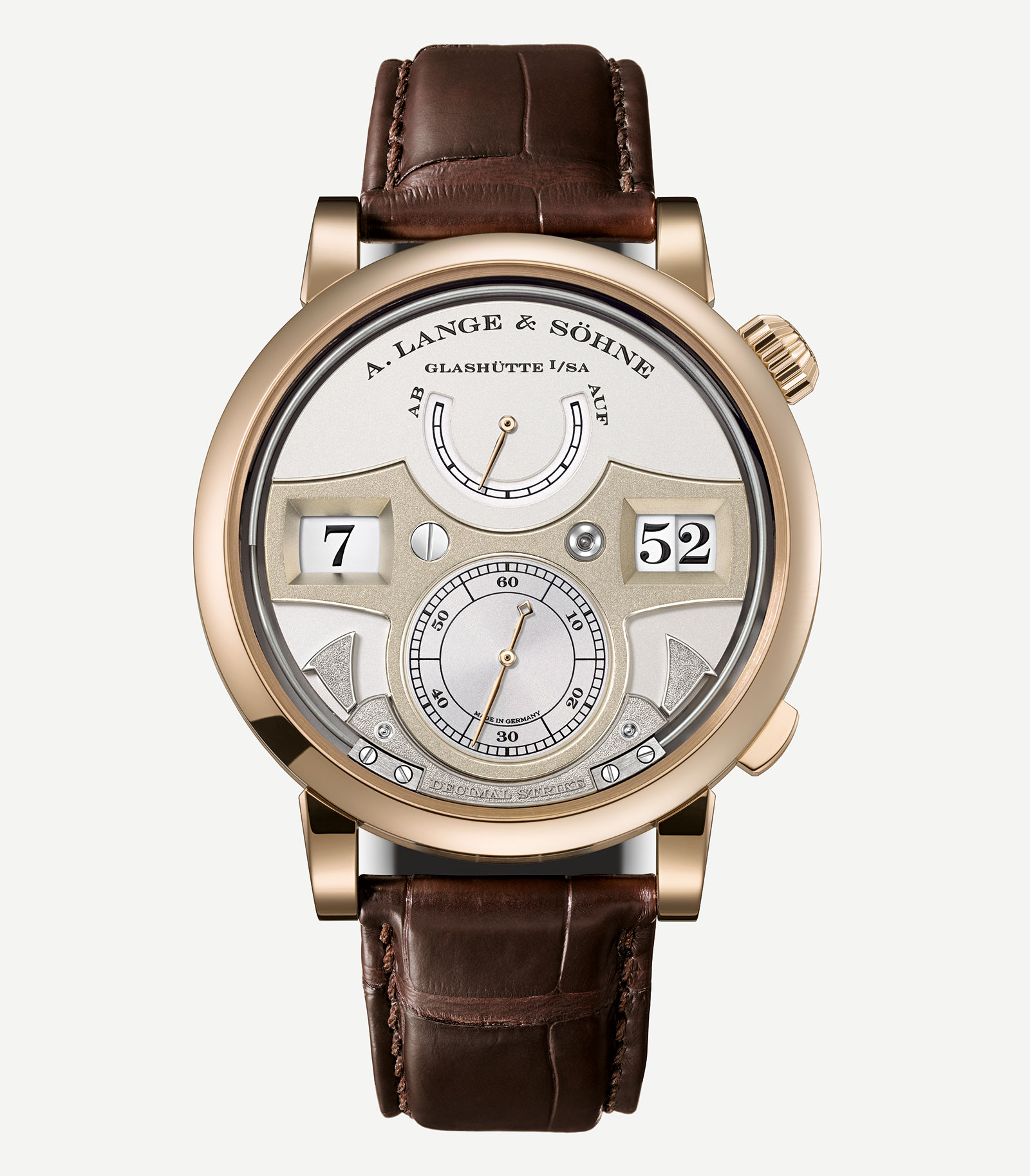 Lange Zeitwerk Decimal Strike honey gold