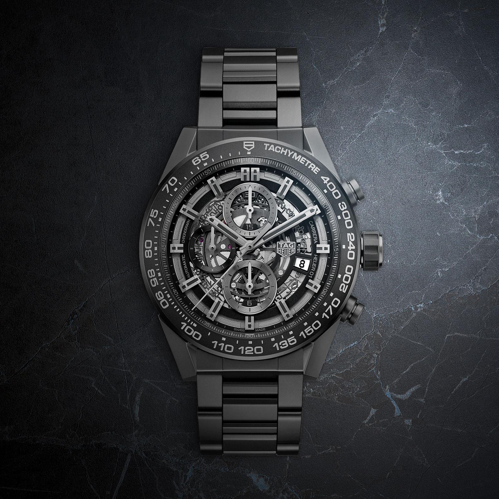 arrebatar Previamente dolor  Introducing the TAG Heuer Carrera Heuer-01 Chronograph in Black Ceramic |  SJX Watches