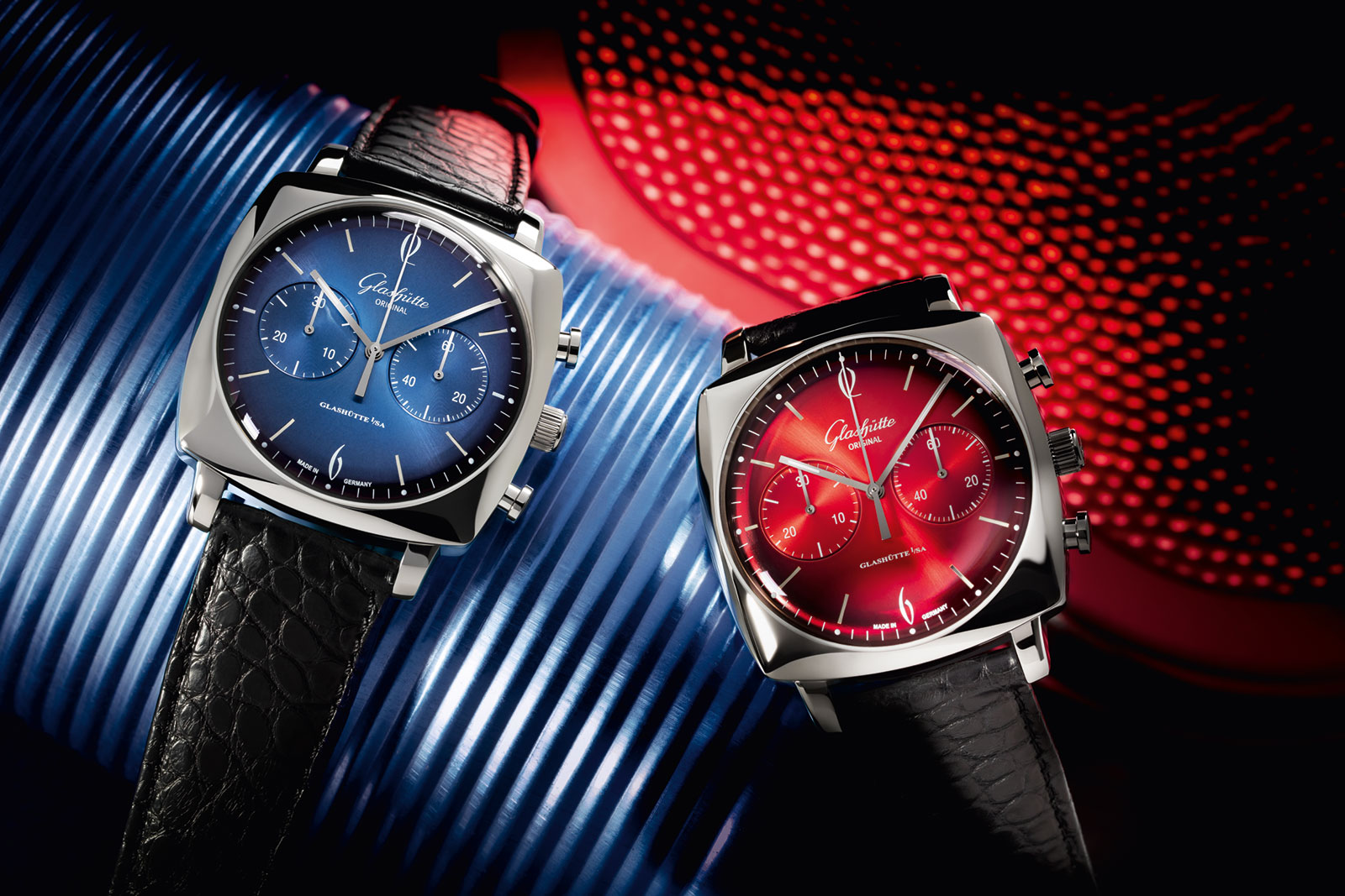 Glashütte Original-Sixties-Iconic-Square-Ocean-Fire