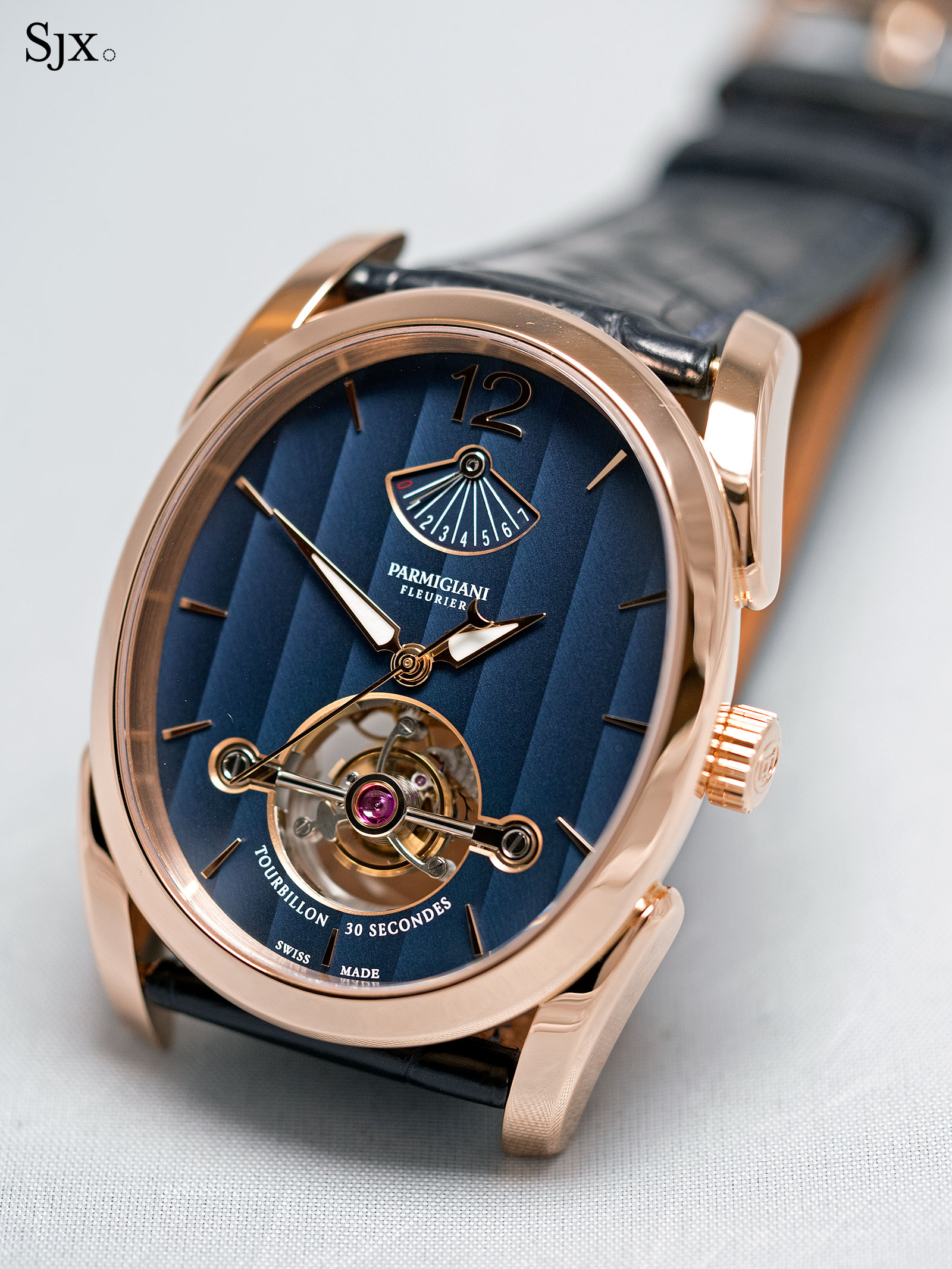 Parmigiani Ovale Tourbillon Rose Gold Abyss 1