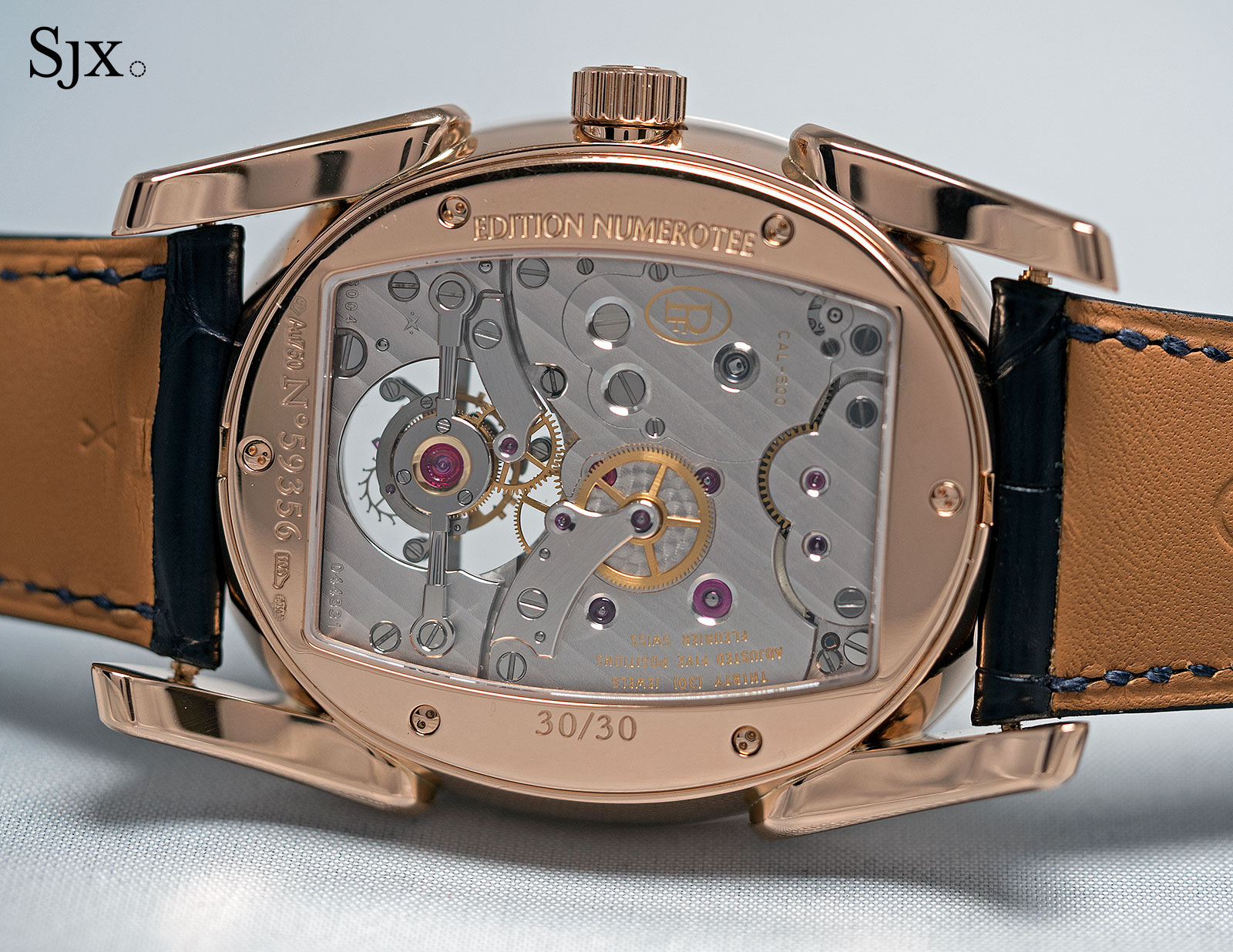 Parmigiani Ovale Tourbillon Rose Gold Abyss 3