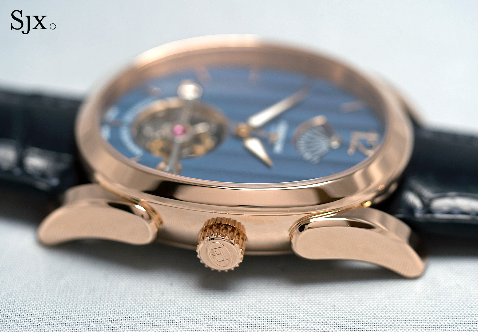 Parmigiani Ovale Tourbillon Rose Gold Abyss profile