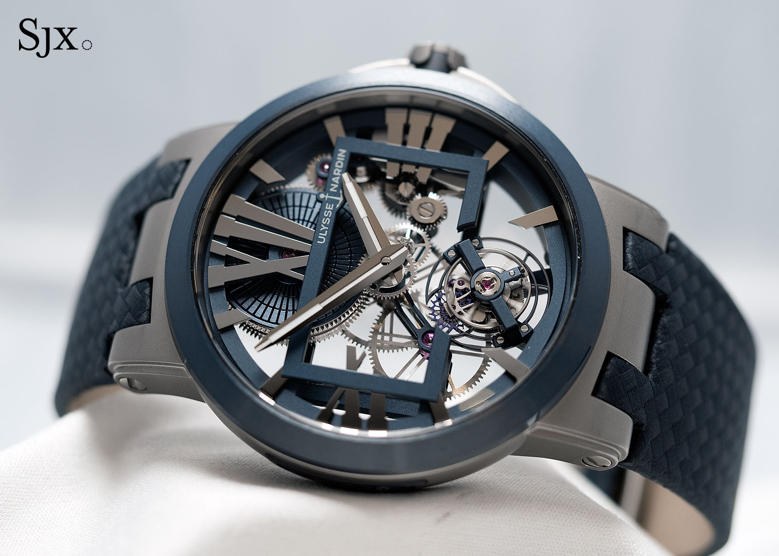 Ulysse Nardin Executive Skeleton Tourbillon blue 1