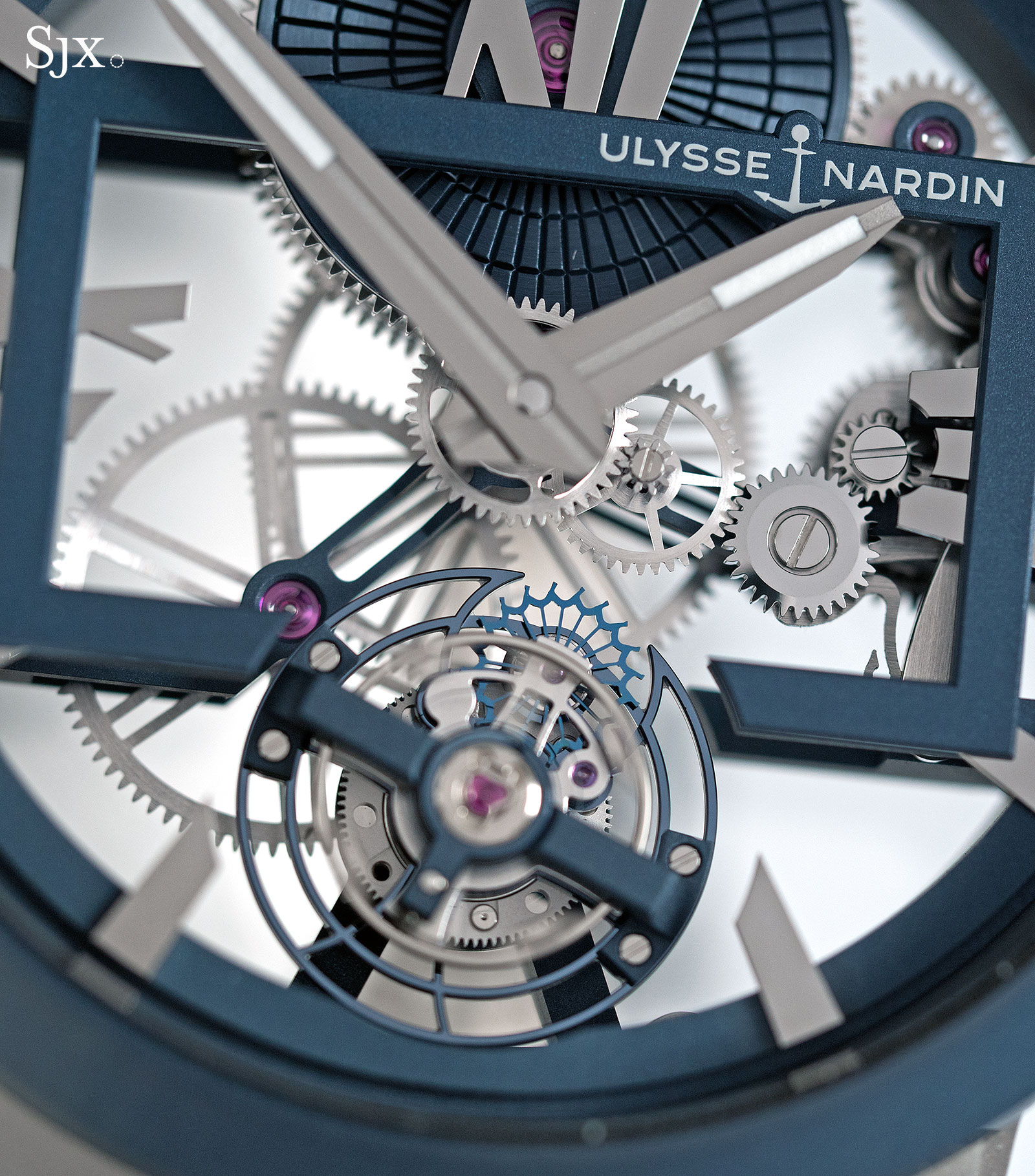 Ulysse Nardin Executive Skeleton Tourbillon blue 2