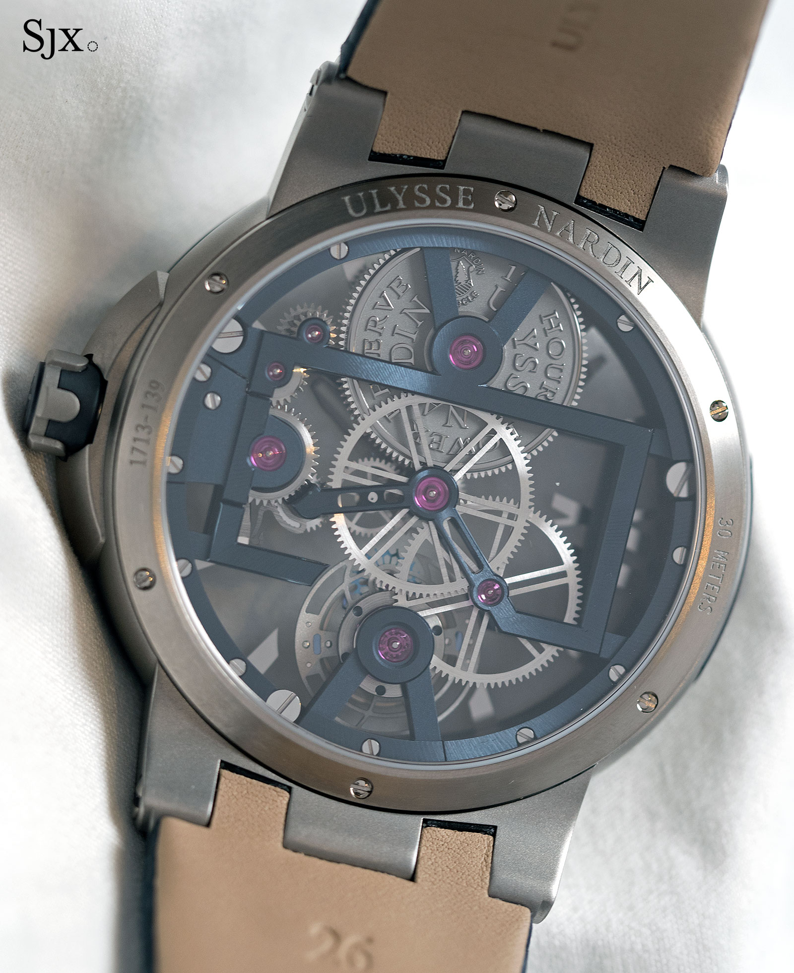 Ulysse Nardin Executive Skeleton Tourbillon blue 3