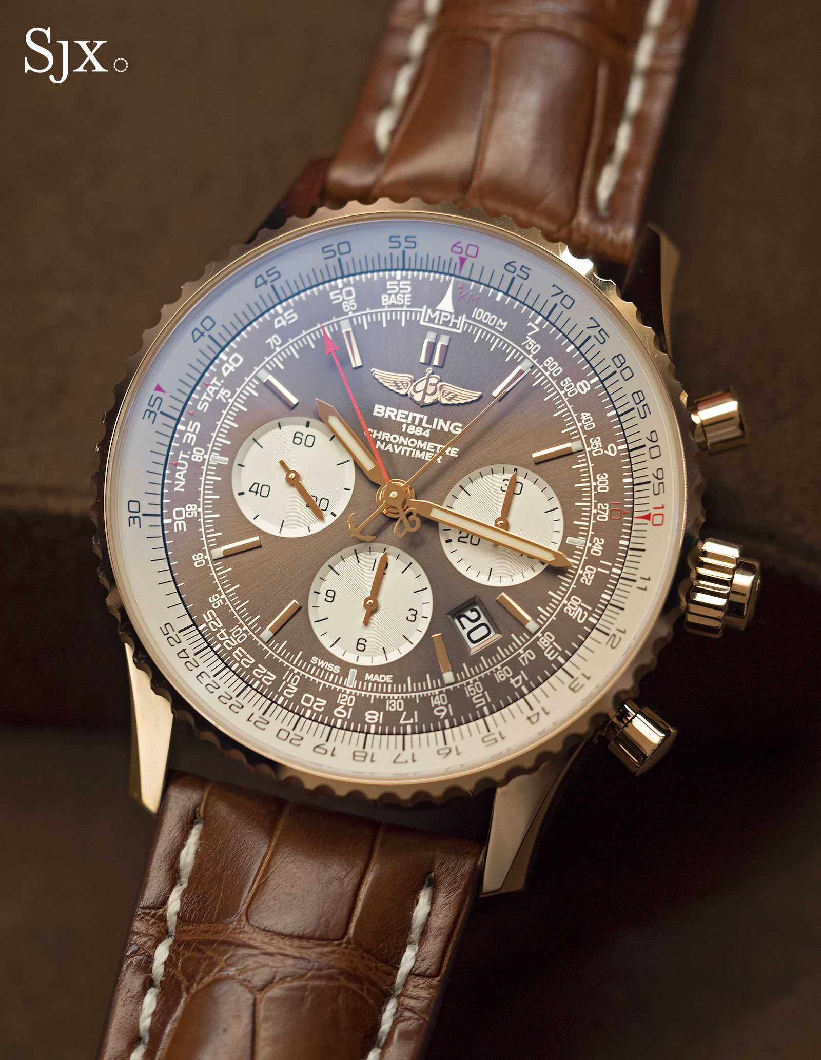 Breitling Navitimer Rattrapante red gold 9