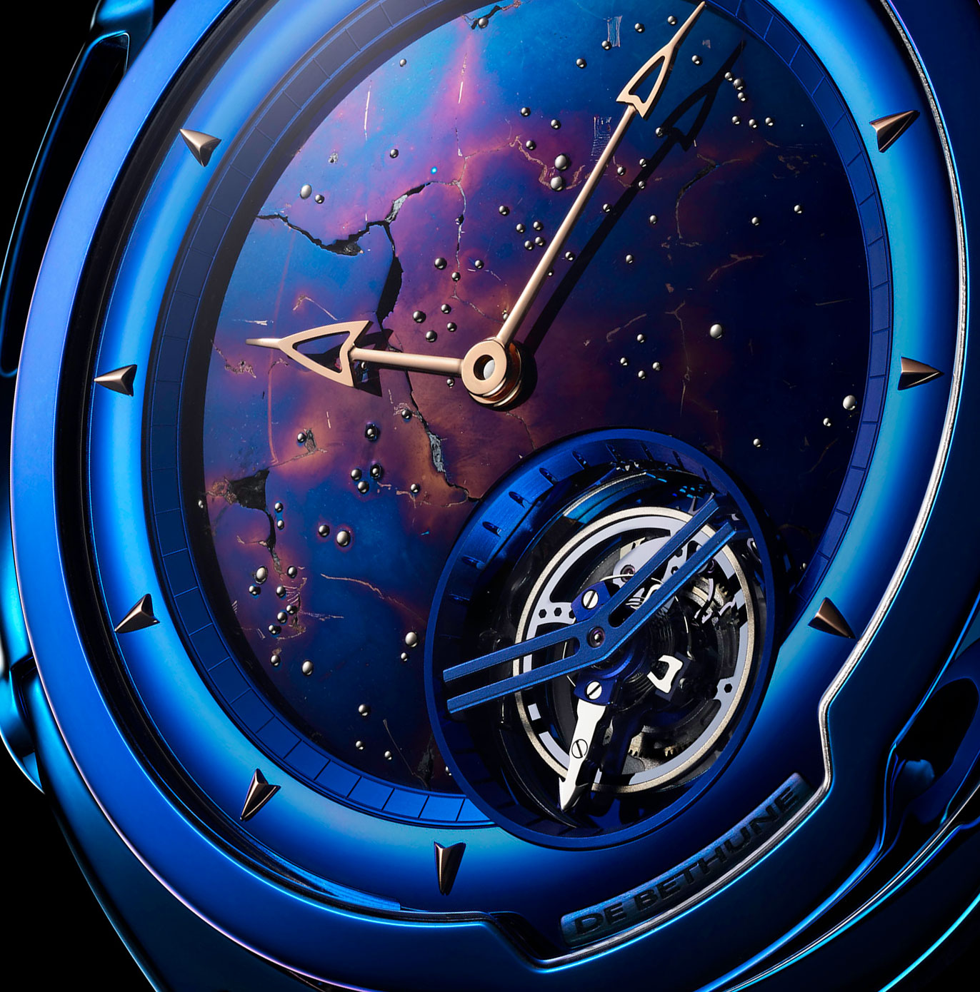 De Bethune DB28 Kind of Blue Tourbillon Meteorite 2