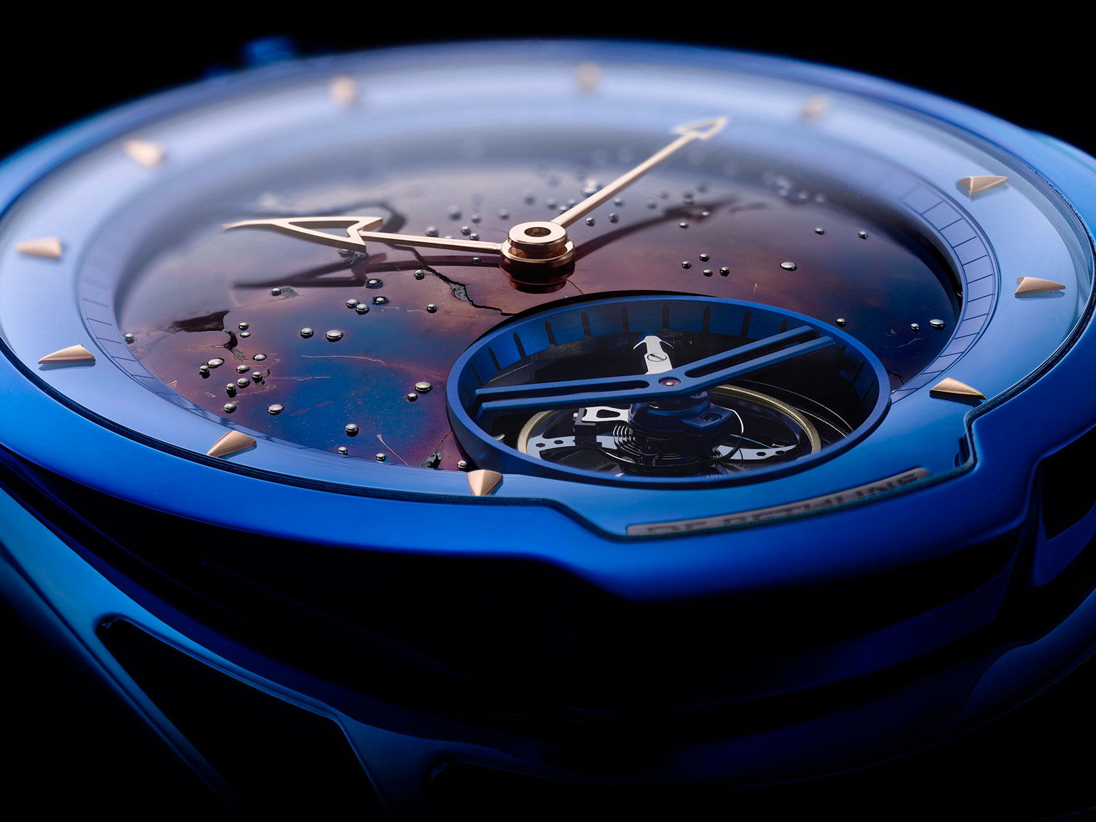 De Bethune DB28 Kind of Blue Tourbillon Meteorite 3
