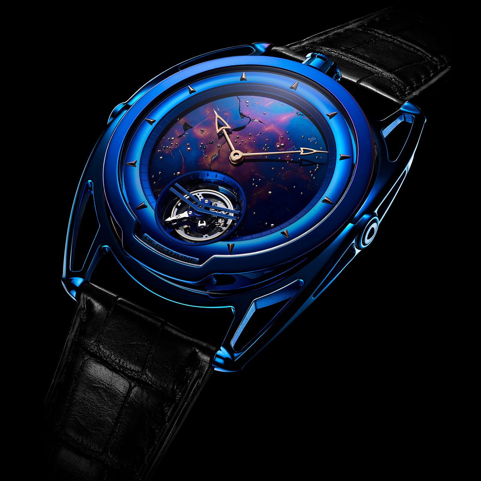 De Bethune DB28 Kind of Blue Tourbillon Meteorite 4