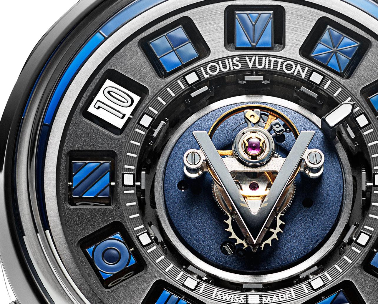 Louis Vuitton Escale Spin Time Tourbillon Central Blue 1