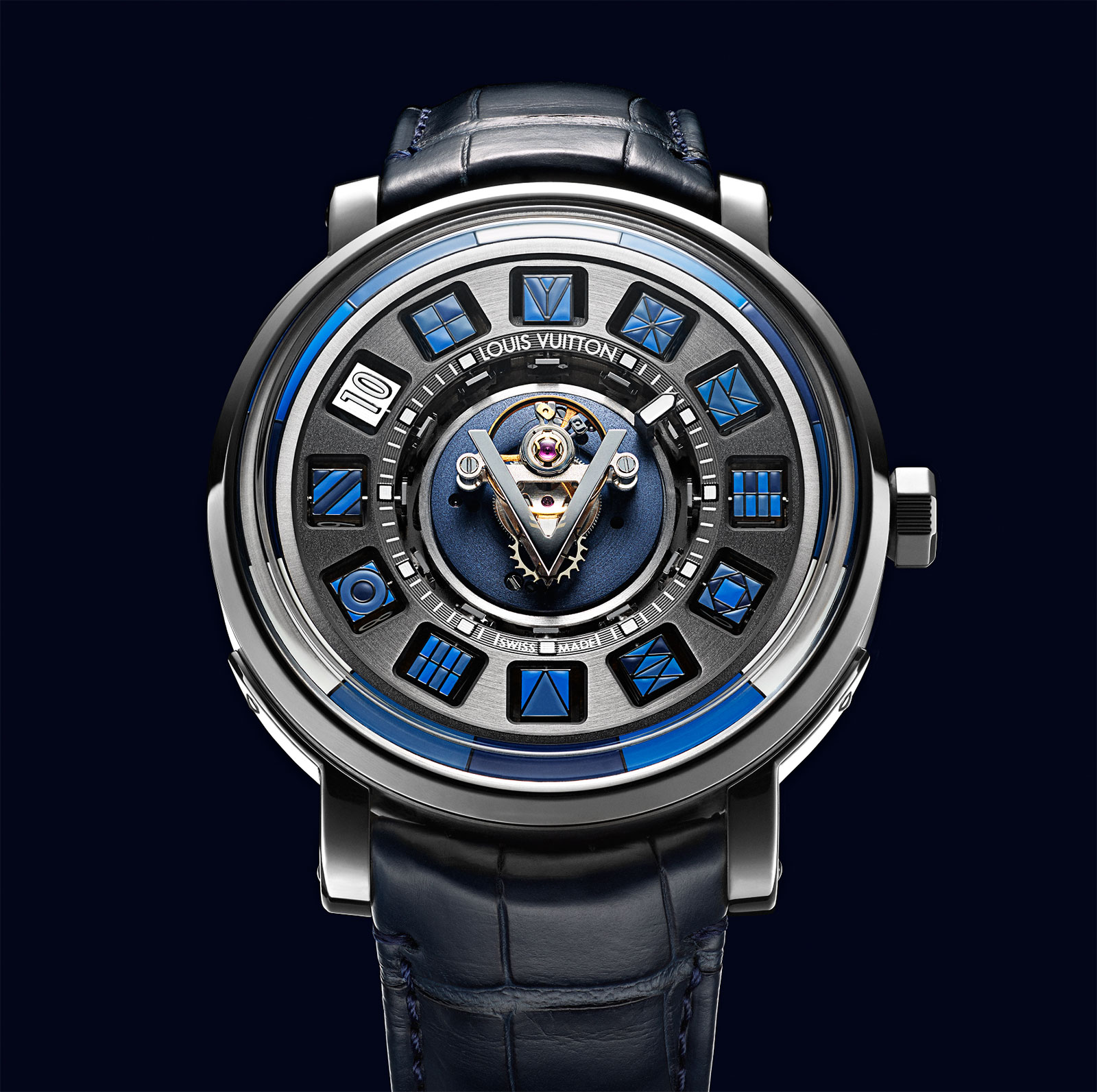 neue uhr louis vuitton escale blue spin time central tourbillon uhrforum. Black Bedroom Furniture Sets. Home Design Ideas