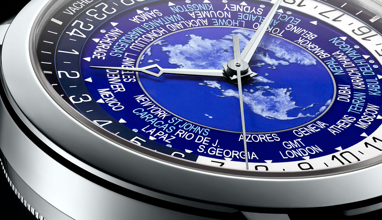 Vacheron Constantin Traditionnelle world time blue enamel 1