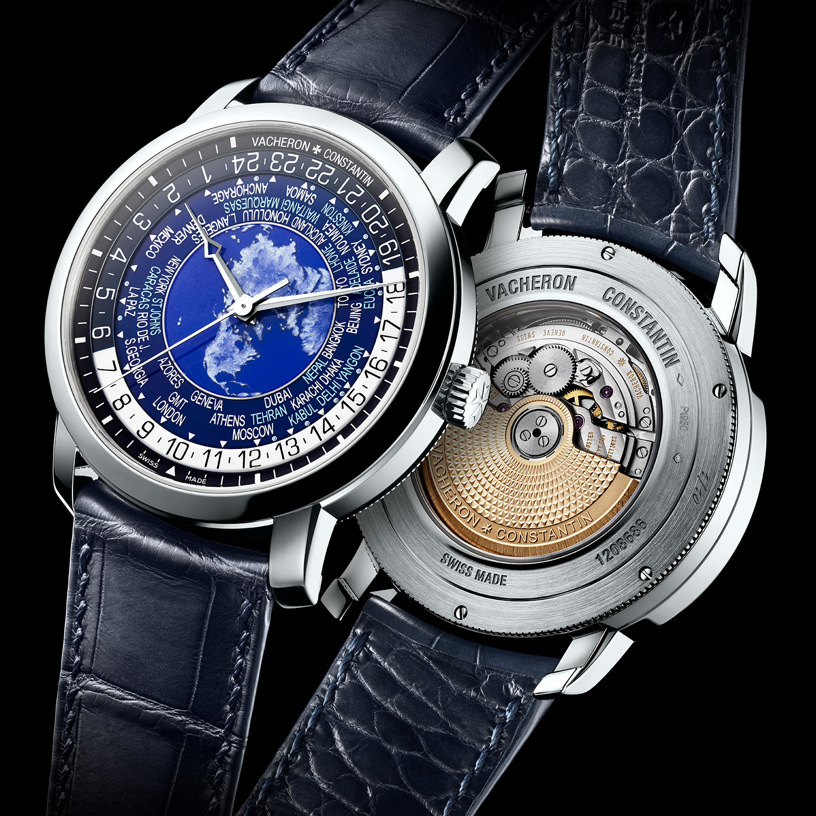 Vacheron Constantin Traditionnelle world time blue enamel 2