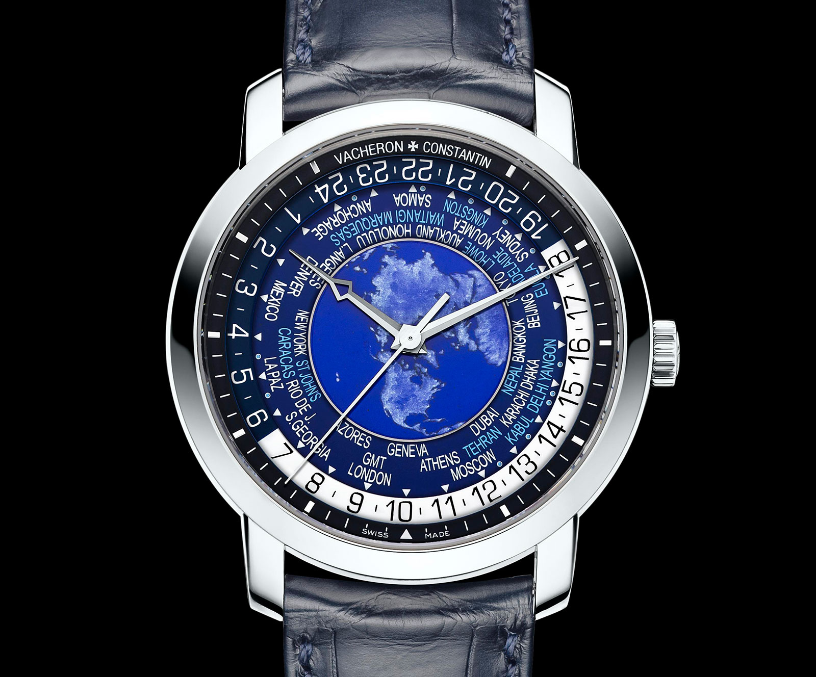 Vacheron Constantin Traditionnelle world time blue enamel 3