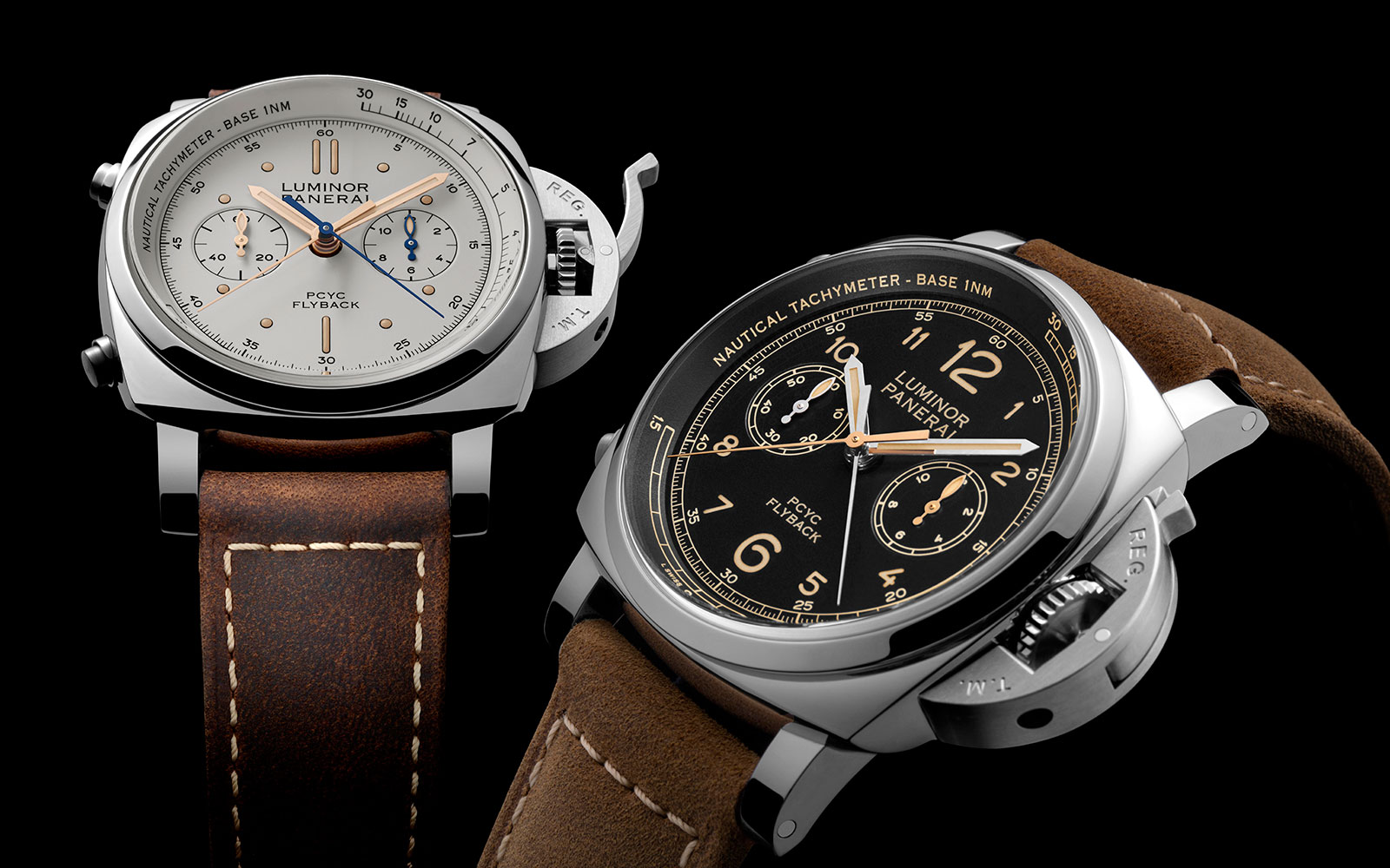 Panerai Luminor 1950 PCYC Chrono Flyback PAM653 PAM654