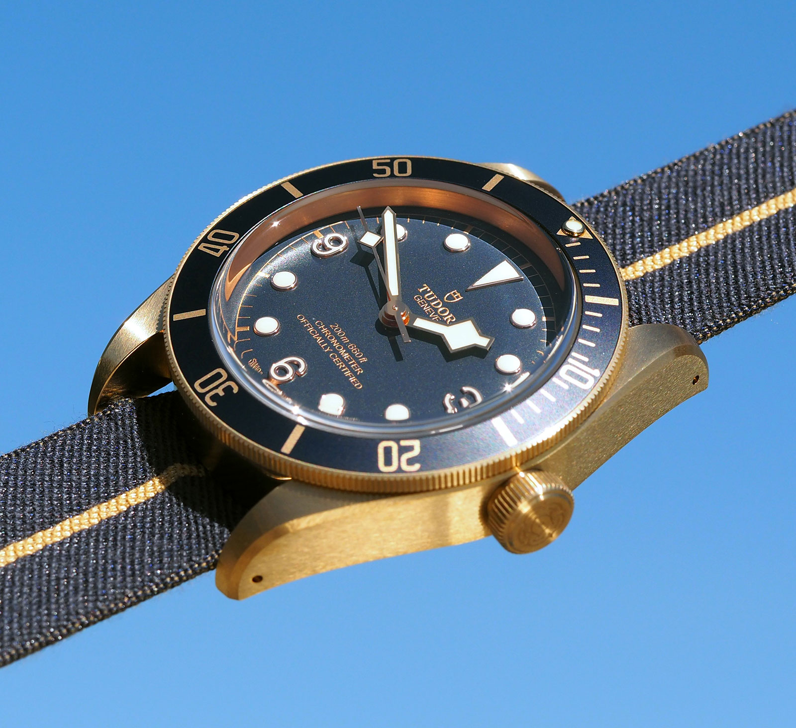 Tudor Black Bay Bronze Blue Bucherer 7