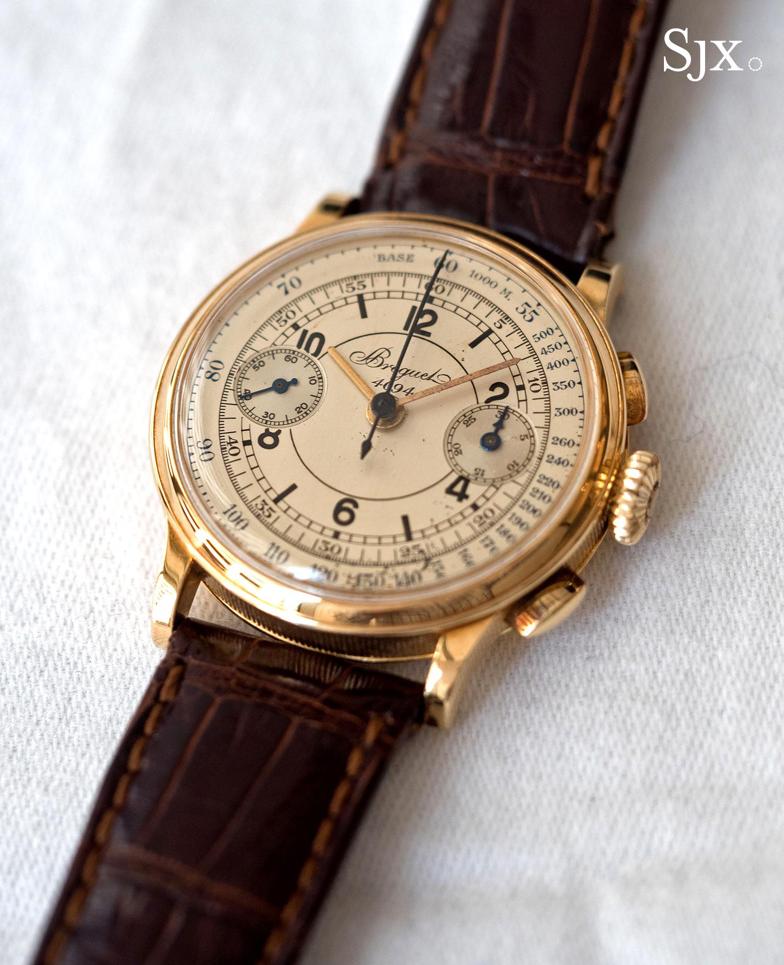 Breguet chronograph sector dial 1