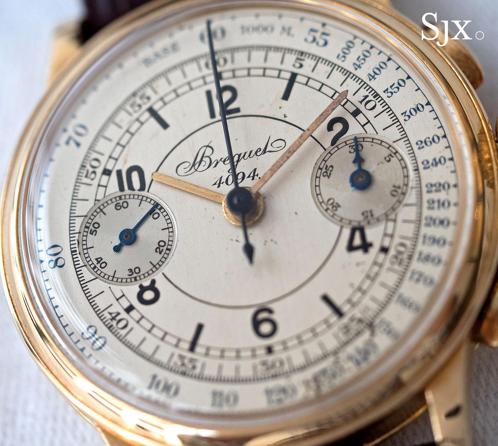 Breguet chronograph sector dial 3