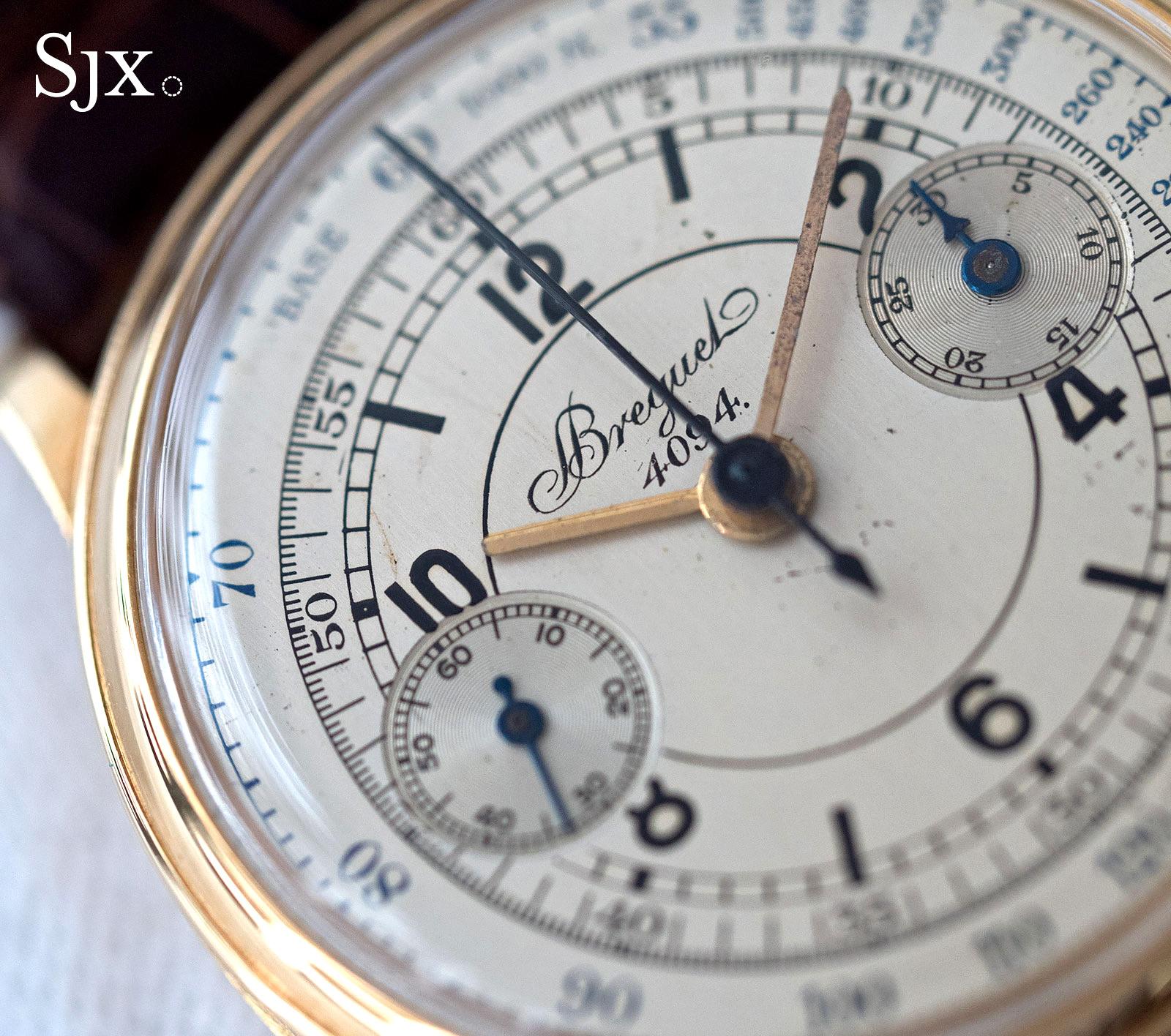 Breguet chronograph sector dial 6