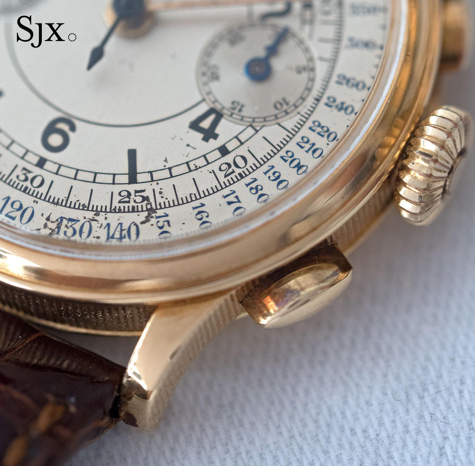 Breguet chronograph sector dial 9