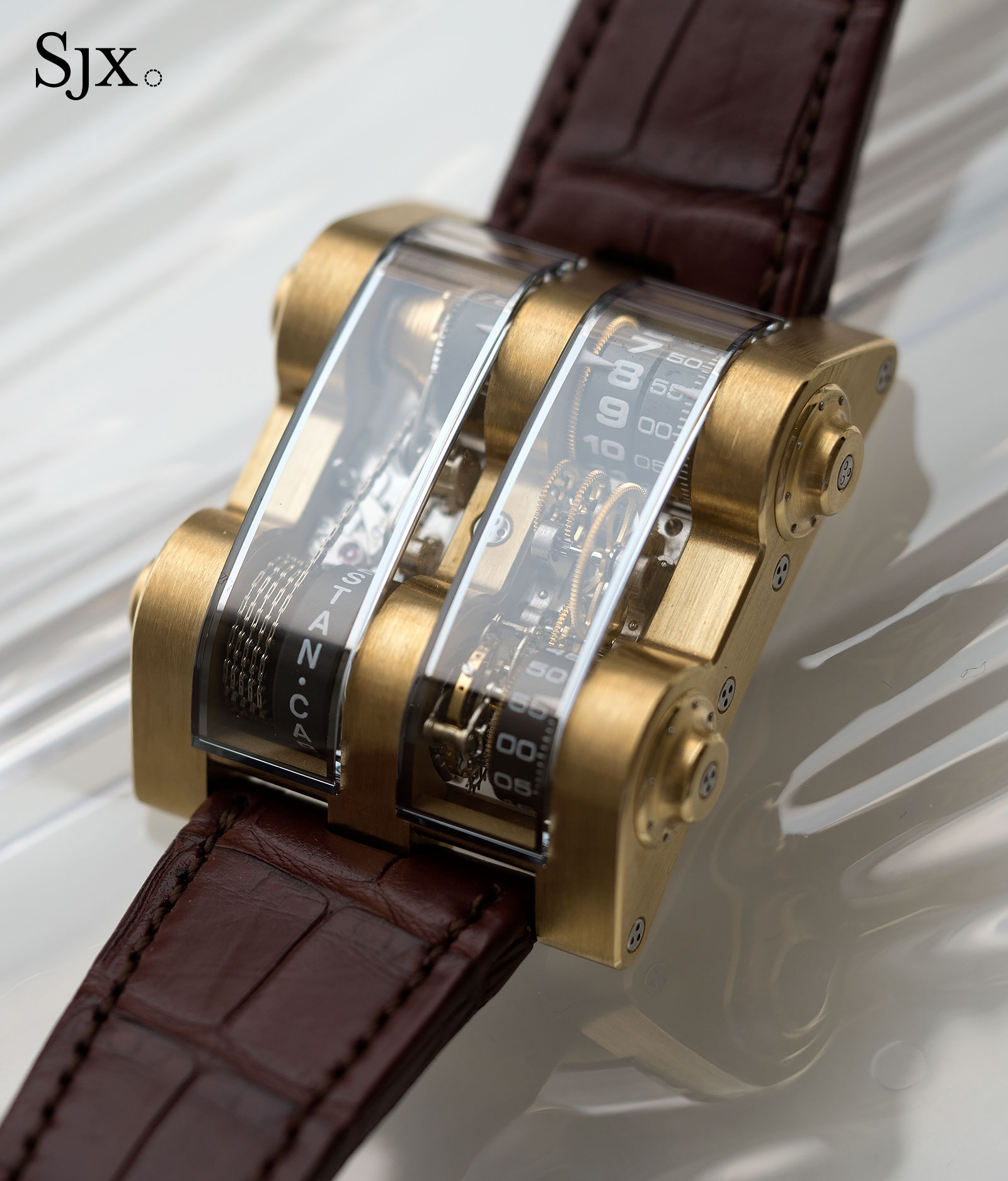 trapezium gold watches rose cabestan