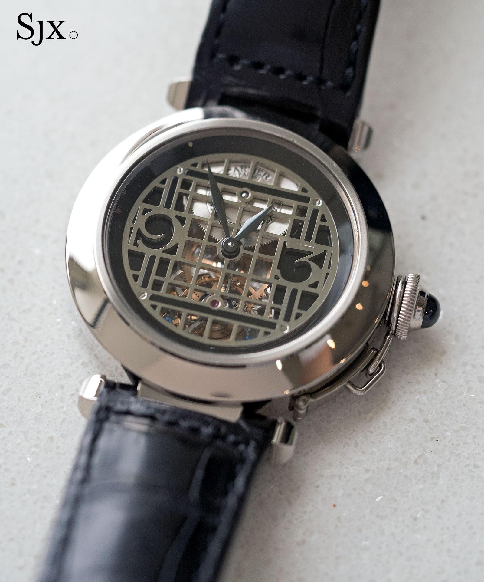 Cartier Pasha Tourbillon white gold 1