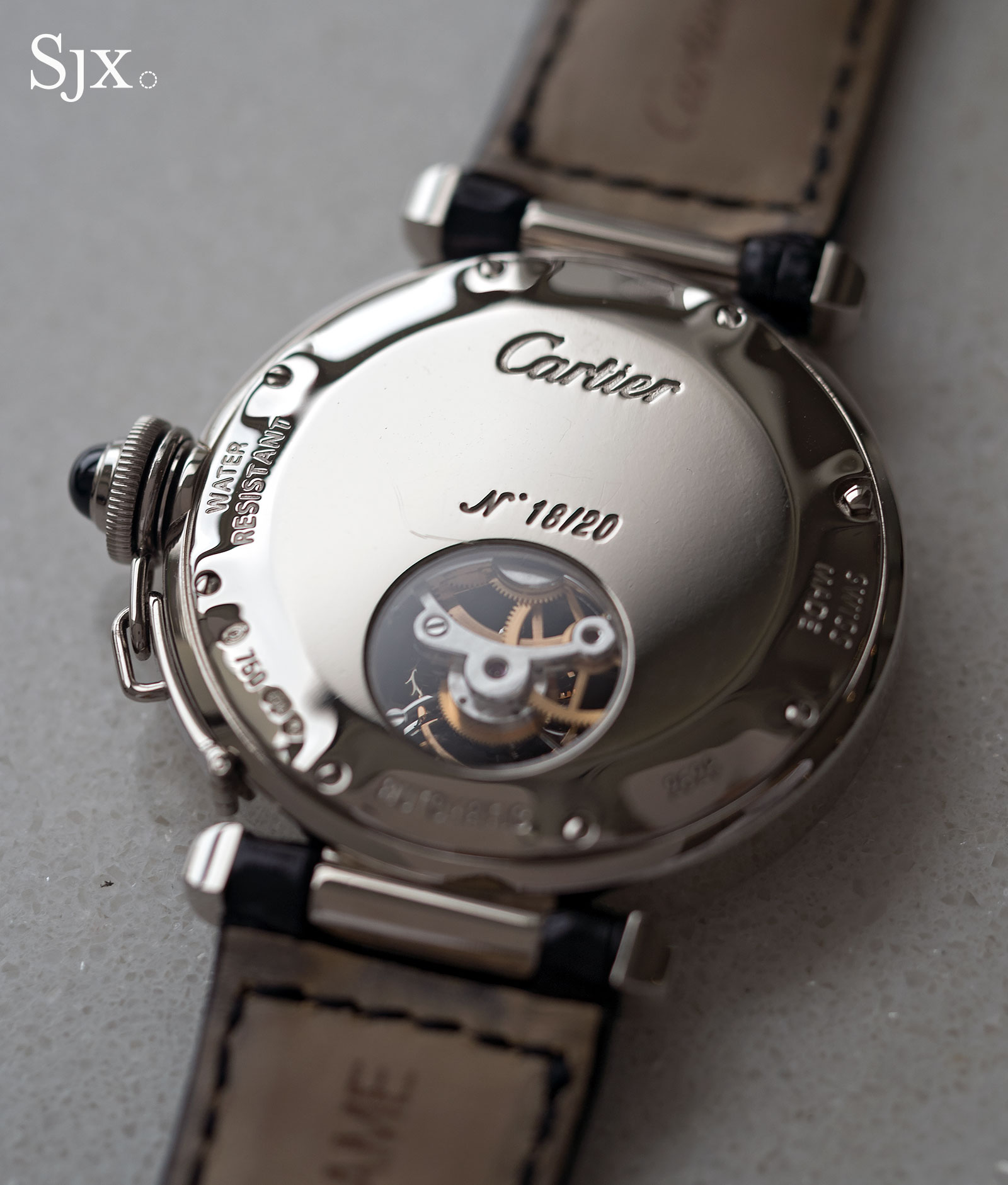 Cartier Pasha Tourbillon white gold 4