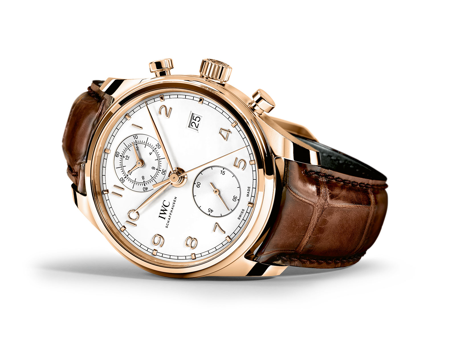 IWC Portugieser Chronograph Classic red gold 2