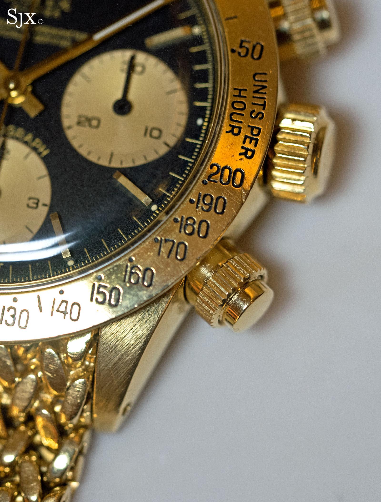 Rolex Daytona 6265 yellow gold Oyster split 3