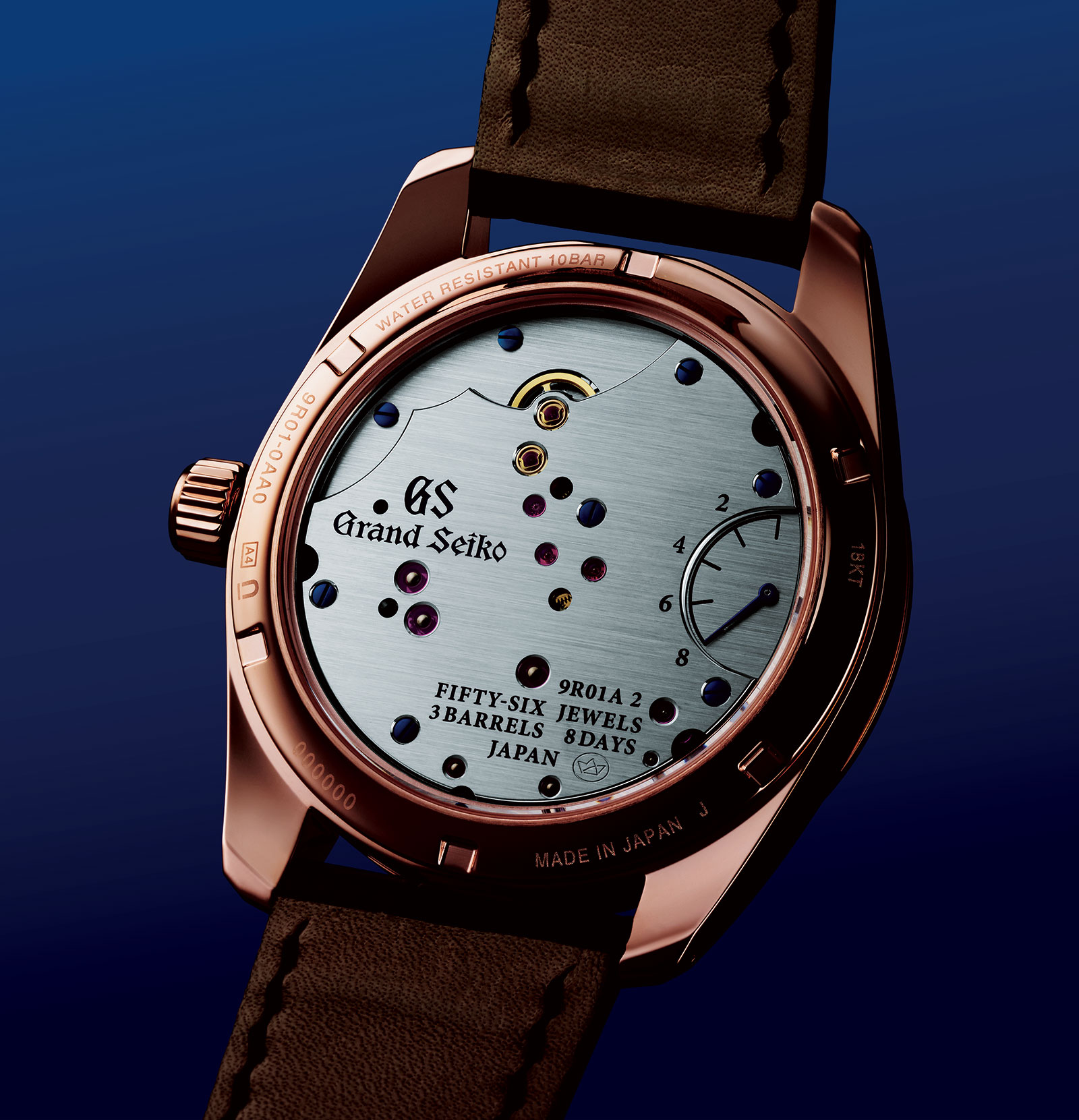 Grand Seiko 8 Day Power Reserve SBGD202 rose gold 1