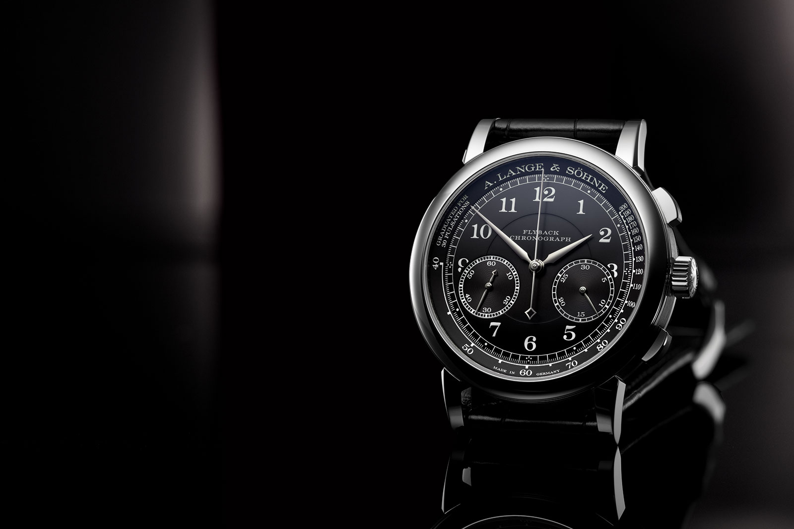 Lange 1815 Chronograph black dial 1