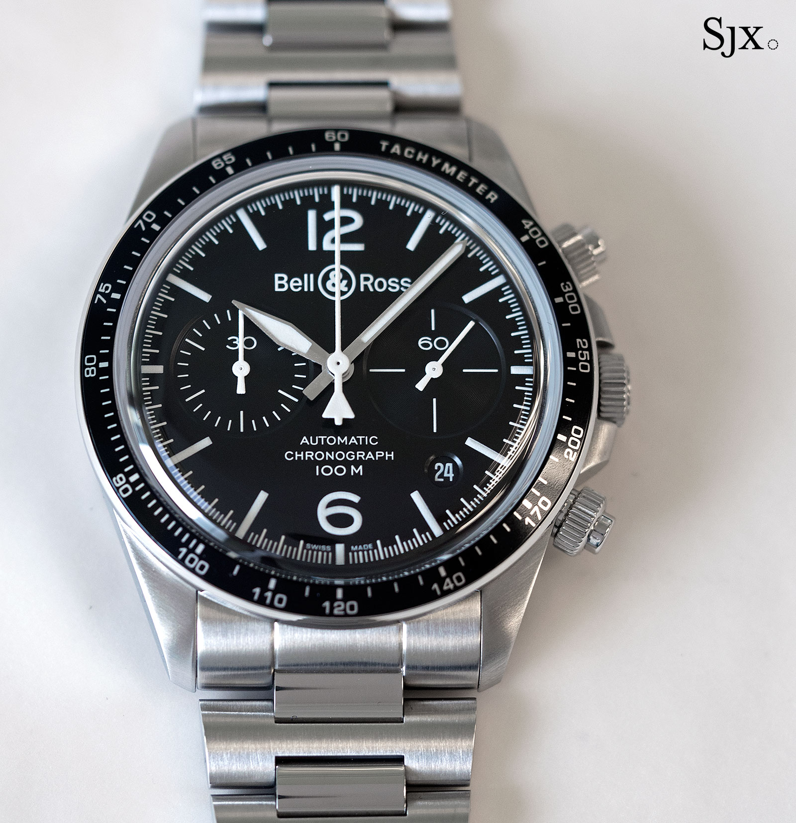 Bell Ross BR V2-94 Black Steel chronograph 1