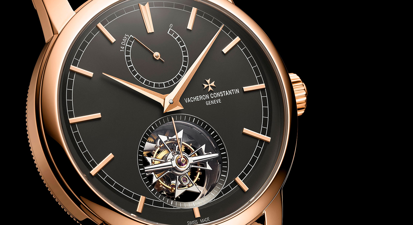 Vacheron Constantin Traditionnelle collection pink gold slate grey dial 2